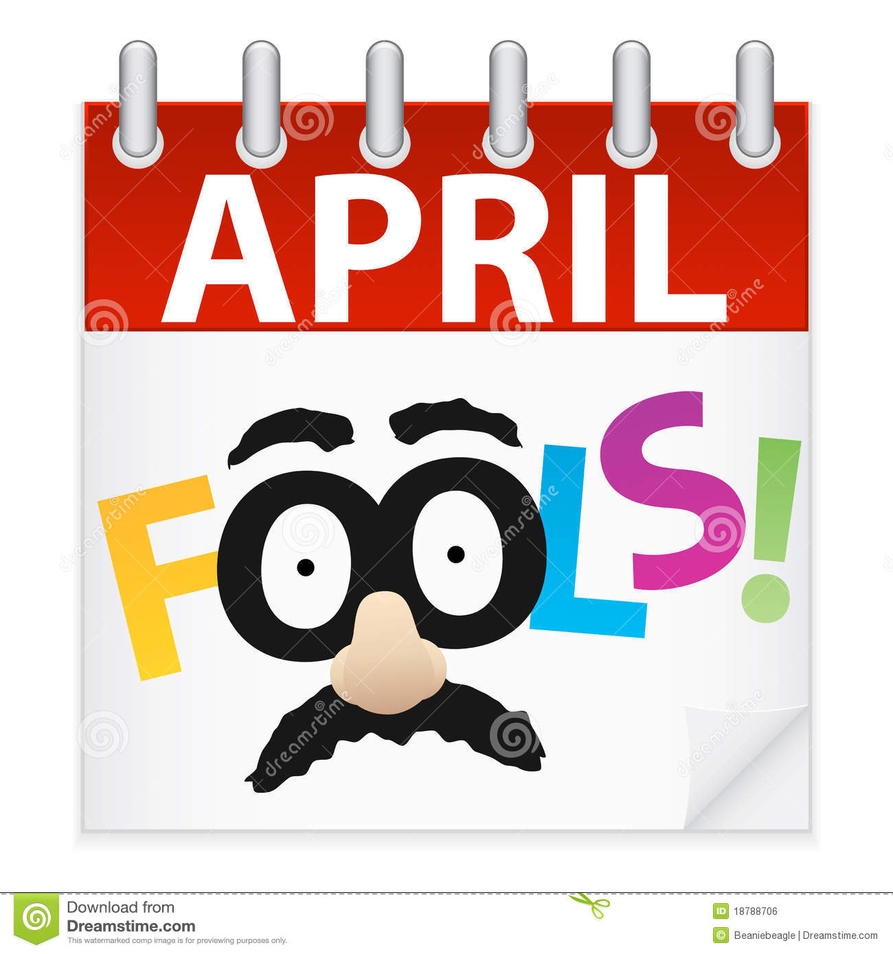 April Fools Day Calendar Icon Royalty Free Stock Image - Image ...
