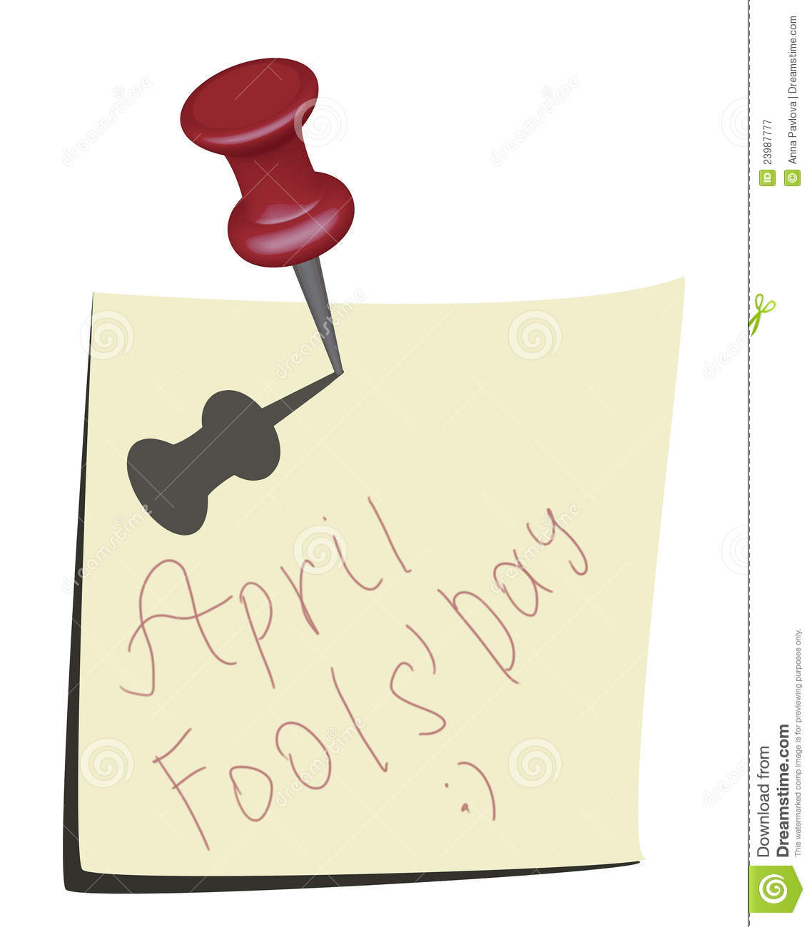 Calendar April Fools : April fools day calendar icon stock illustration image