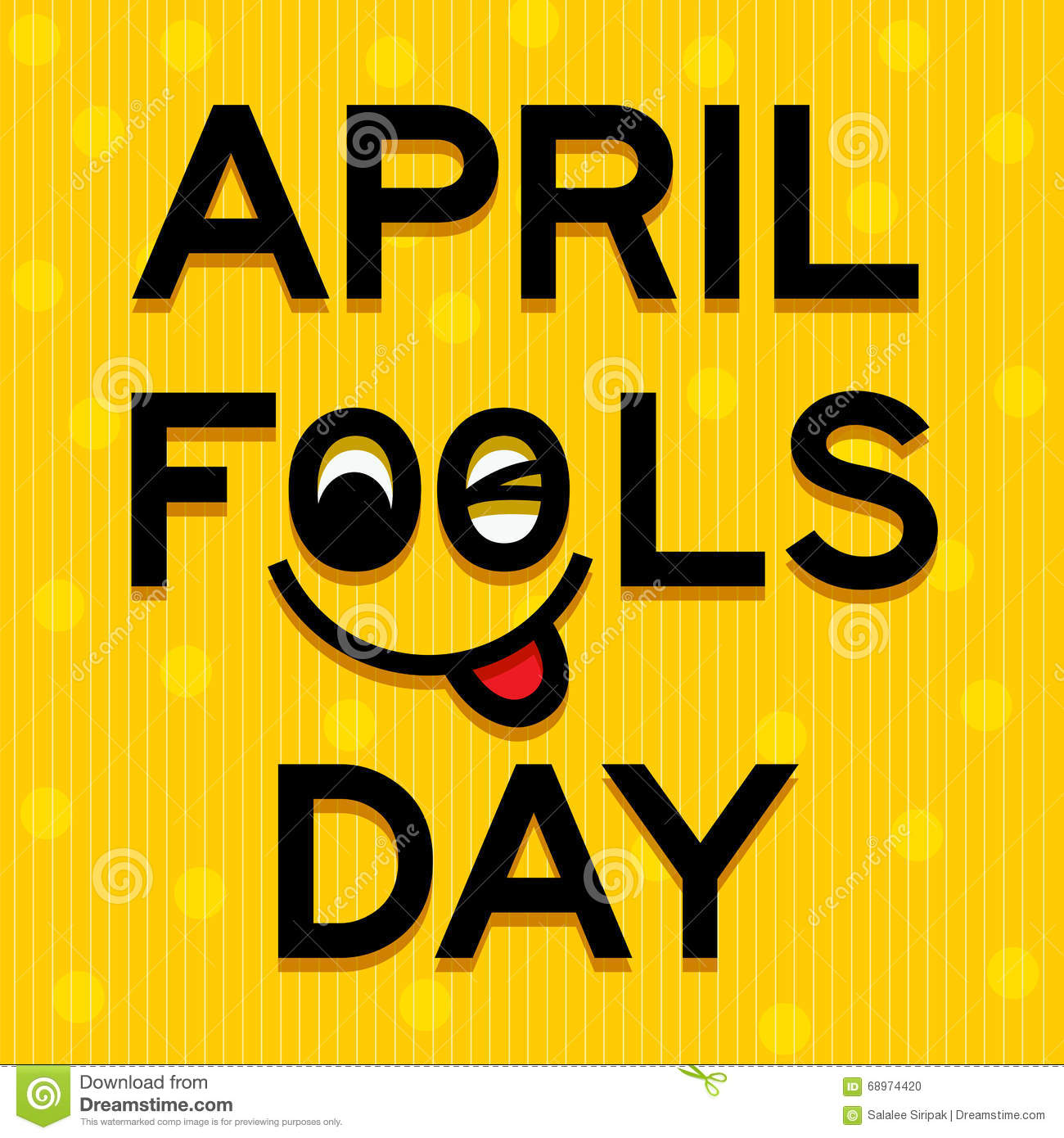 April Fools Day Text And Funny Face Vector Illustration Stock Vector -  Illustration of signage, email: 68974420