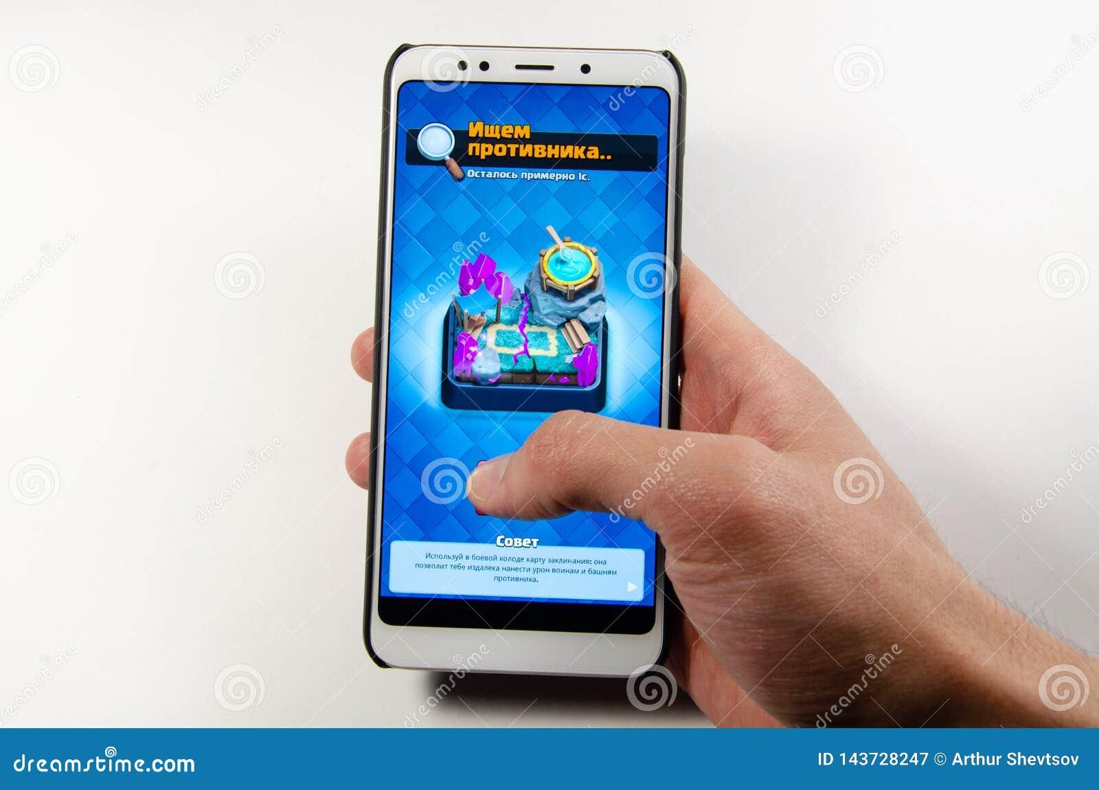 April, 2019. Kramatorsk, Ukraine. Mobile application and games
