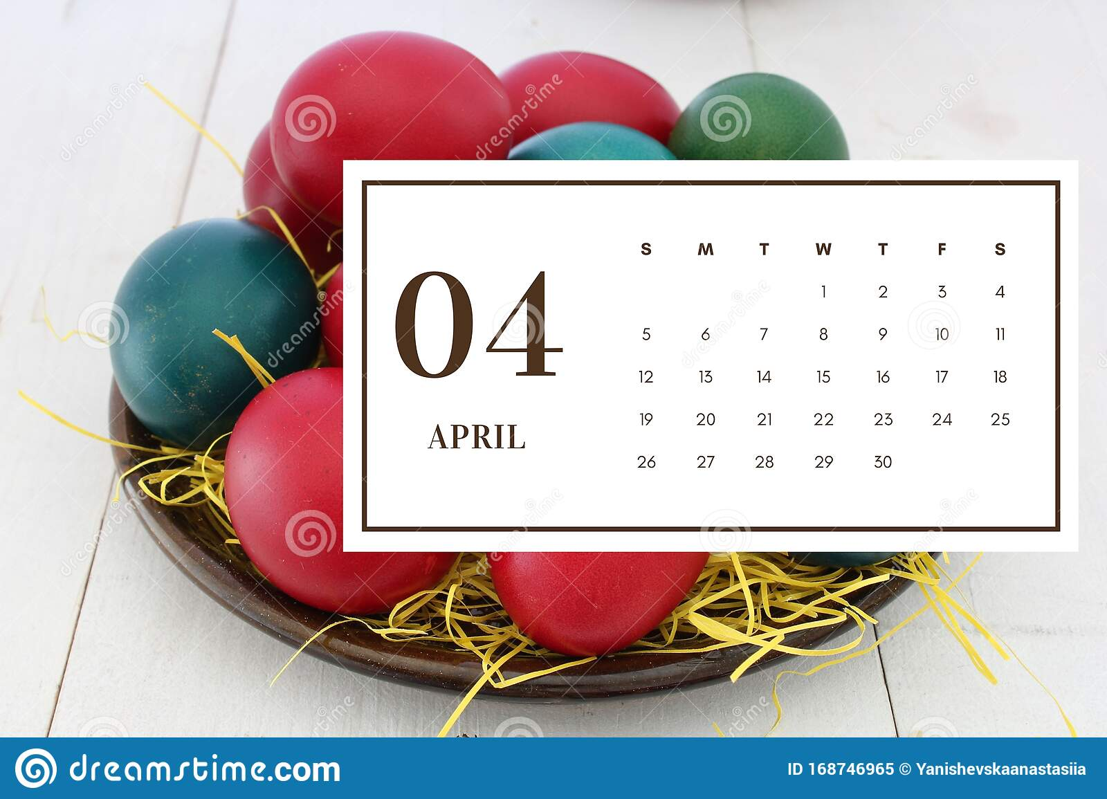 April 2020 Monthly Calendar Wallpaper Stock Image Image Of Blue