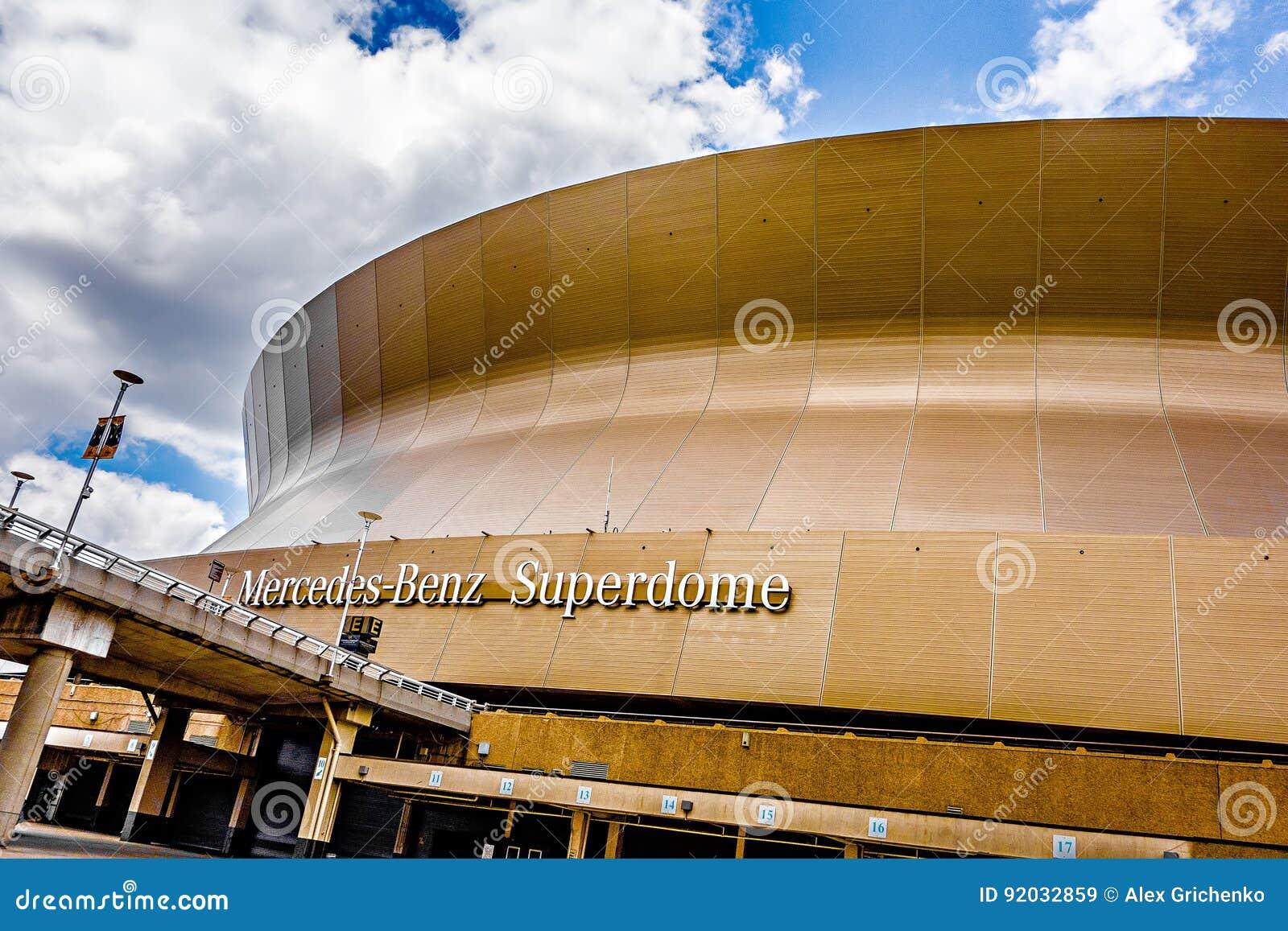 April 2017 New Orleans LA   Mercedes Benz Superdome Home Stadium
