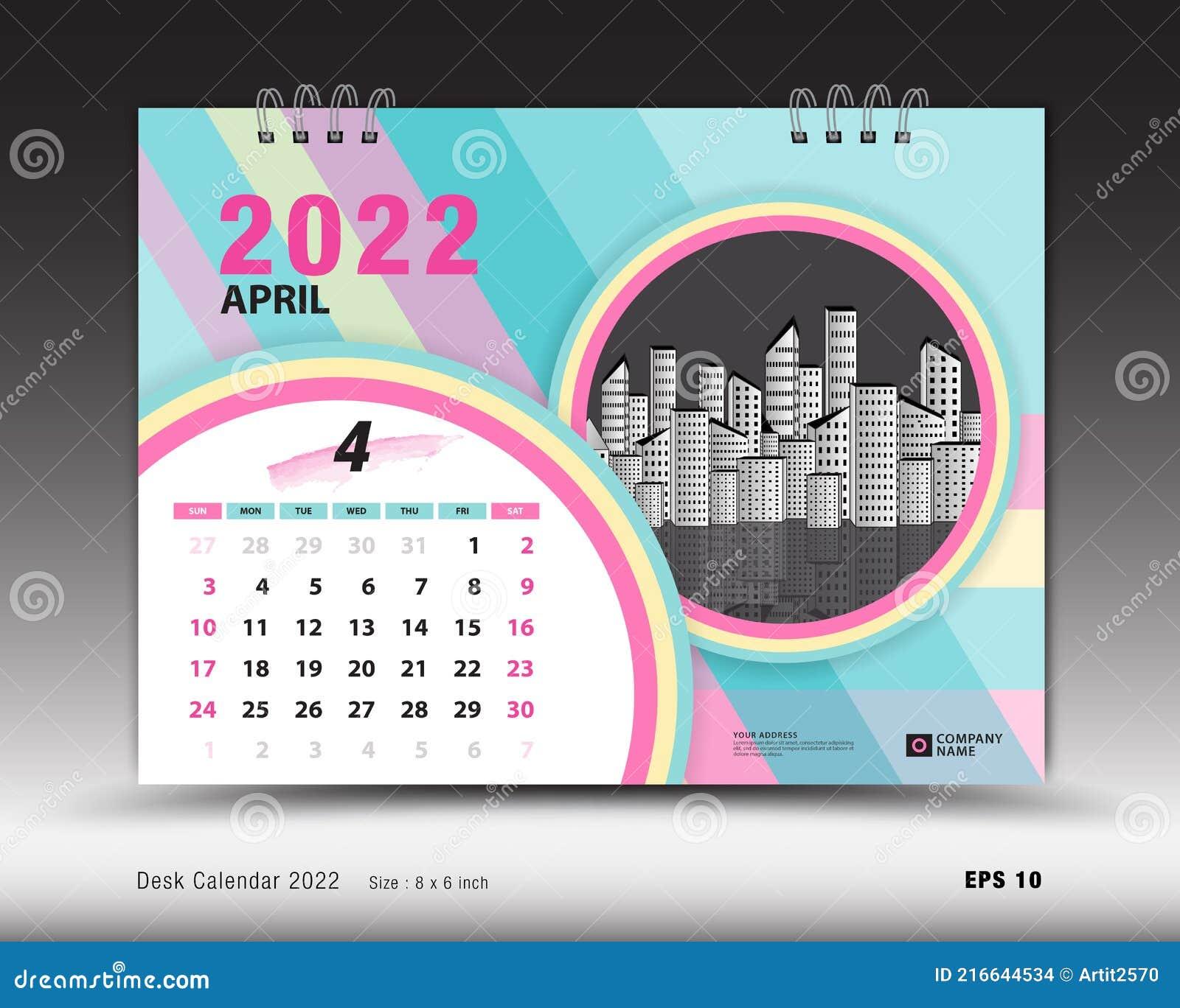 Free 2022 Wall Calendar By Mail.Calendar 2022 Template April Month Layout Desk Calendar 2022 Year Calendar Planner Design Wall Calendar Design Stock Vector Illustration Of Brochure 2023 216644534