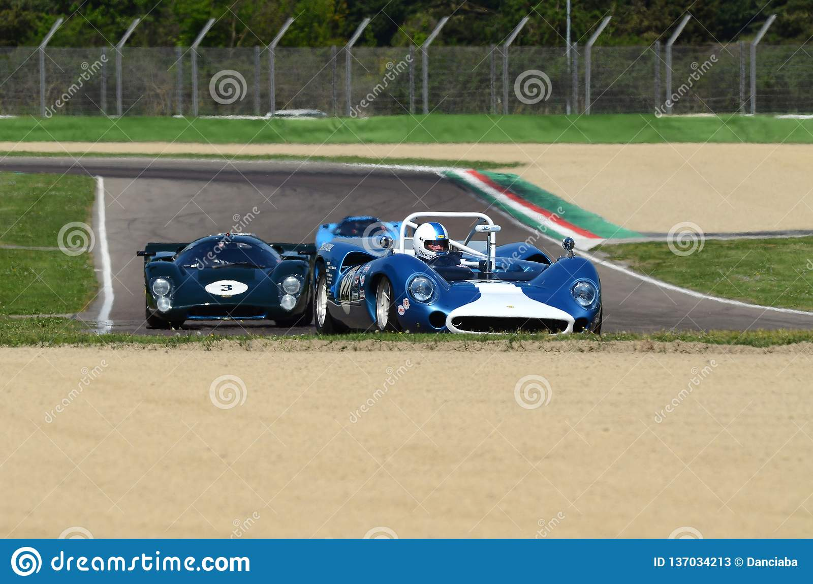21 April 2018  Unknown Drive Lola T70 Mk2 Spyder During