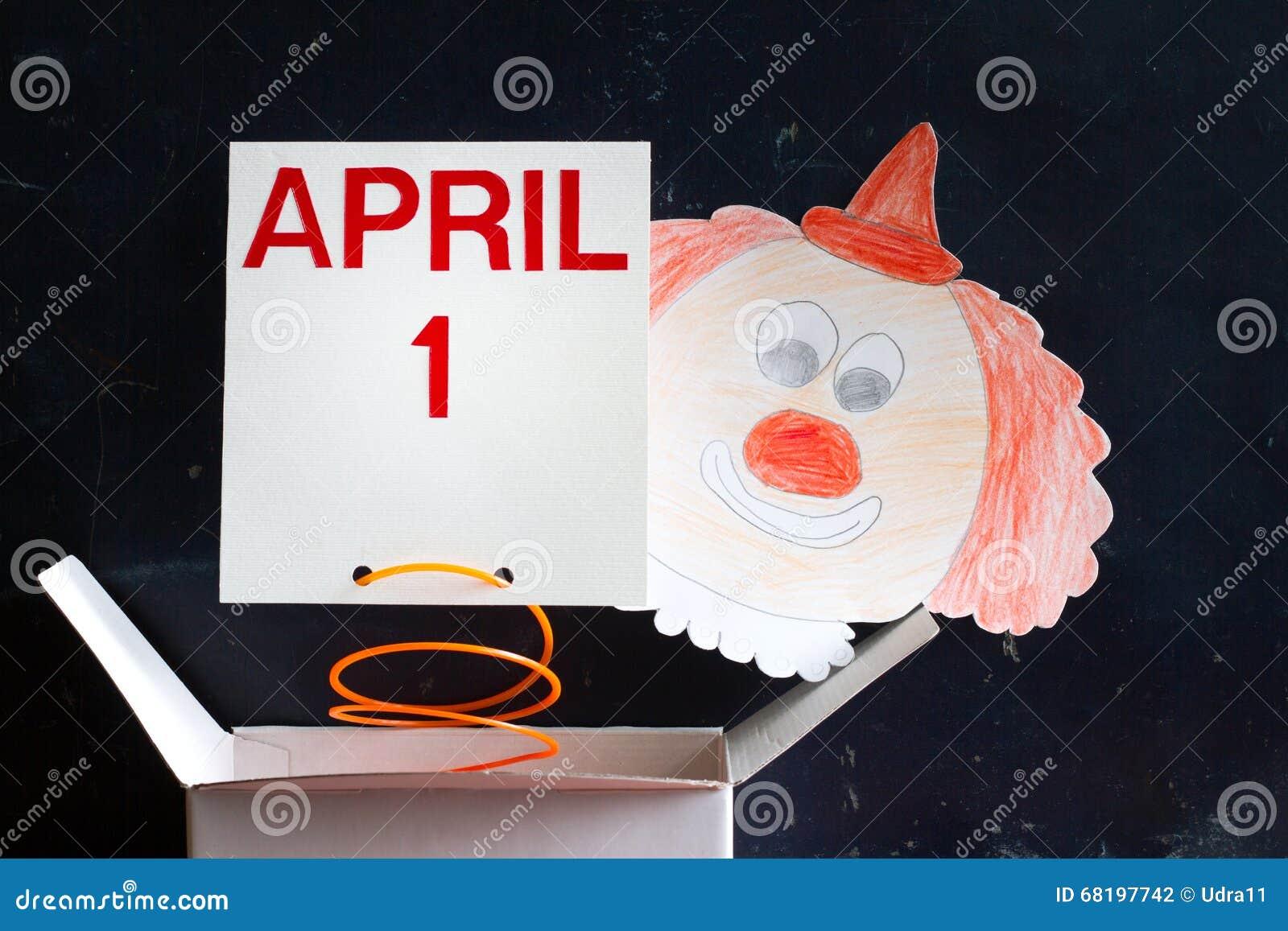 Aprilscherztagessymbolkonzept mit Clown