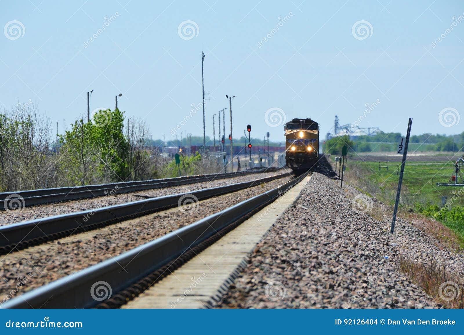 Aproximação da locomotiva do trem