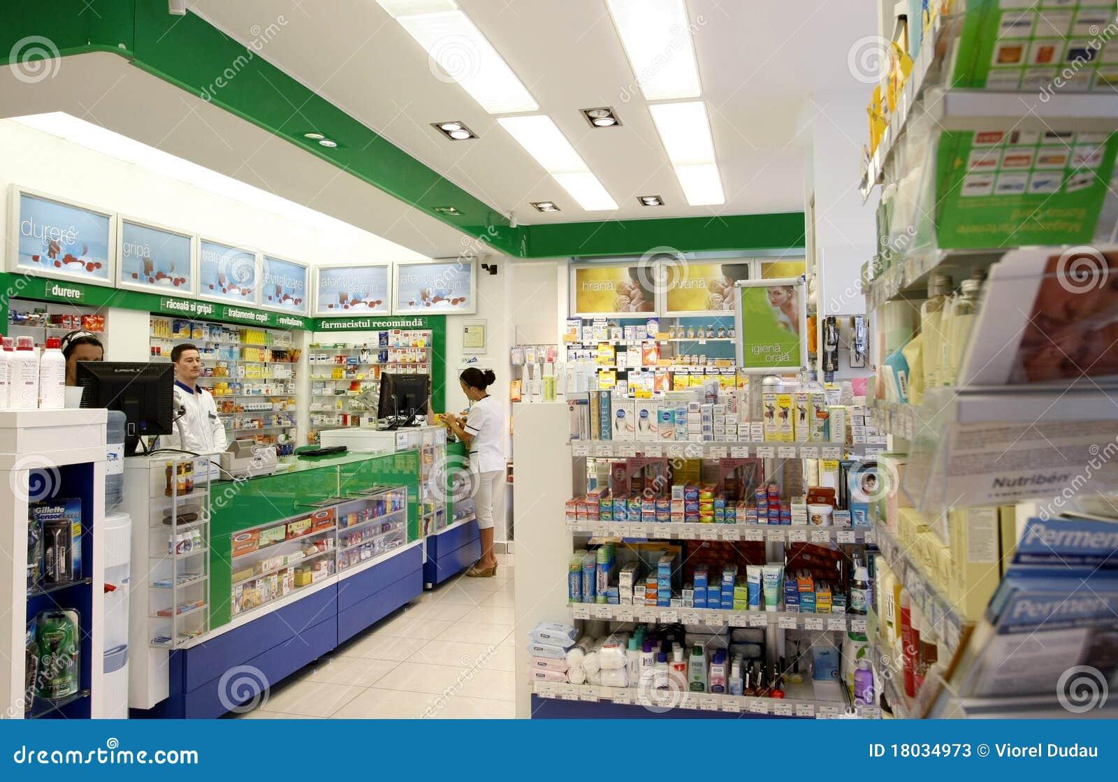 Apteki wewnętrzny apteki sklep