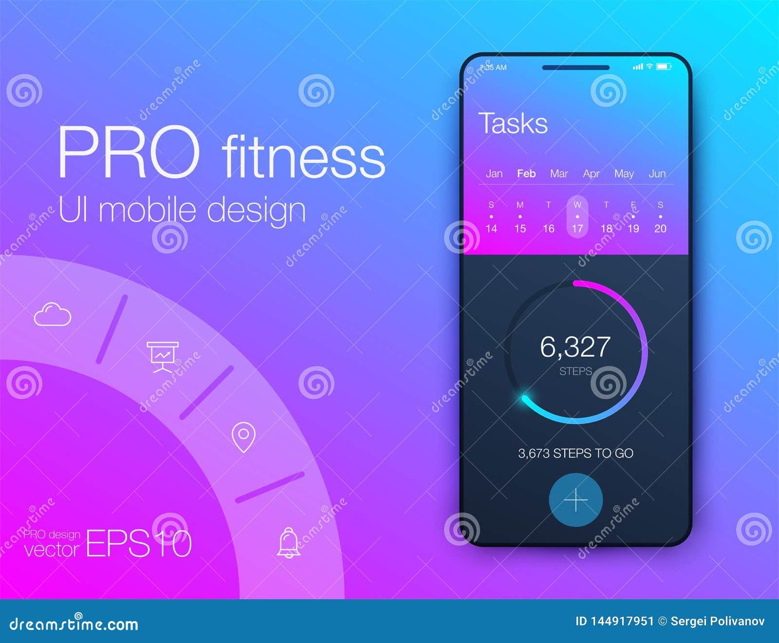 Aptitud app Dise?o de UI UX Concepto de dise?o de UI con los elementos de la web