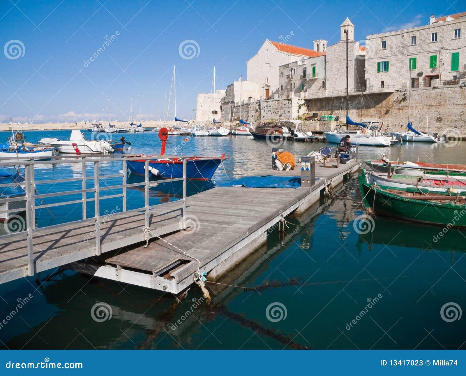 Apulia giovinazzo krajobrazu widok