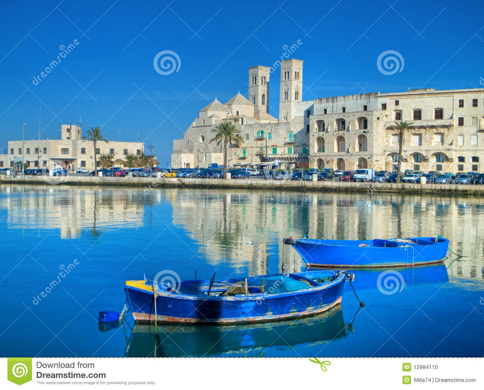 Apulia krajobrazowy molfetta portu widok
