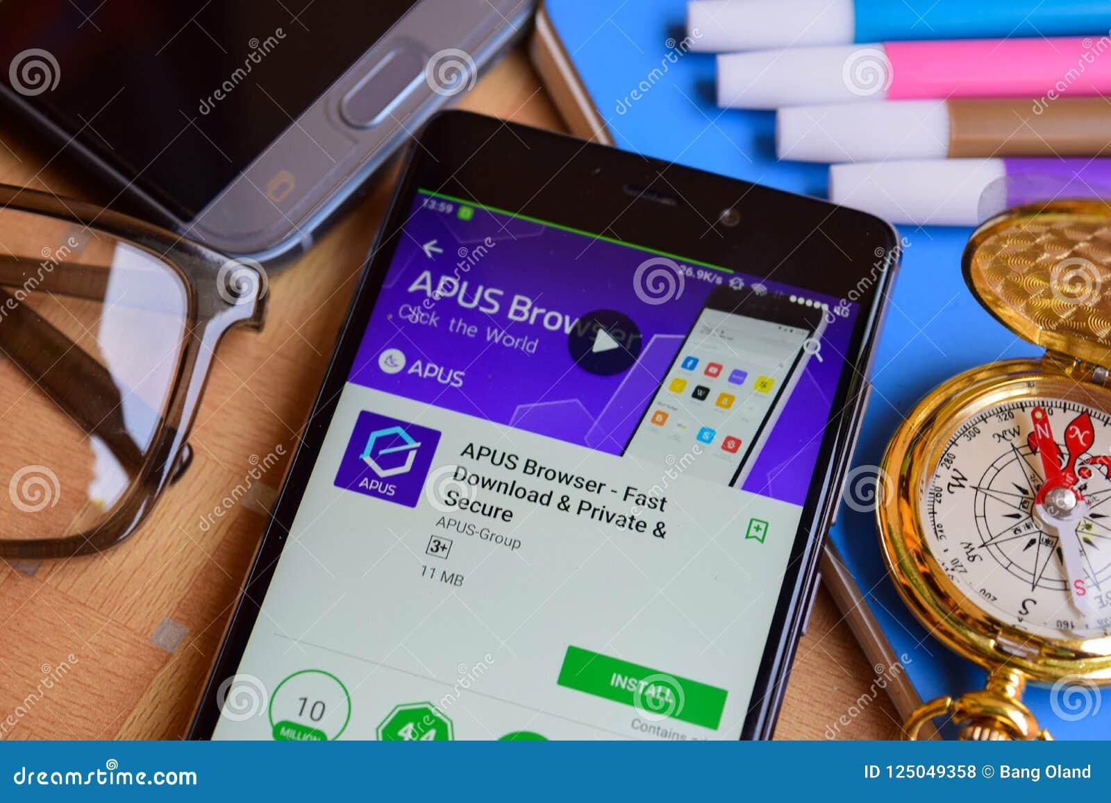 APUS Browser -Fast Download & Private & Secure Dev App On Smartphone