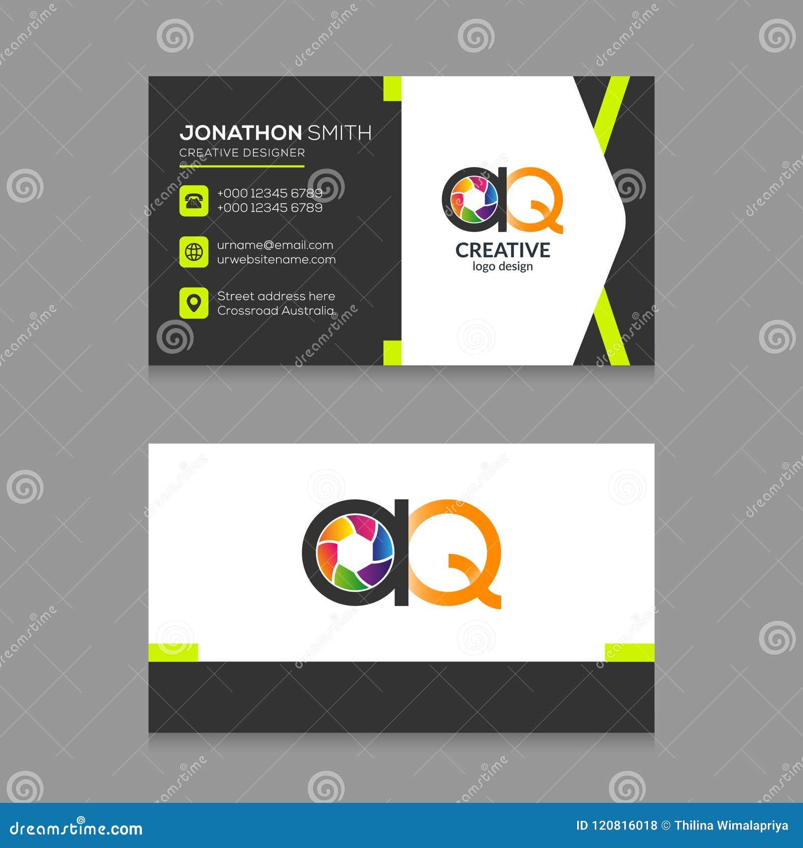 rainbow business card template