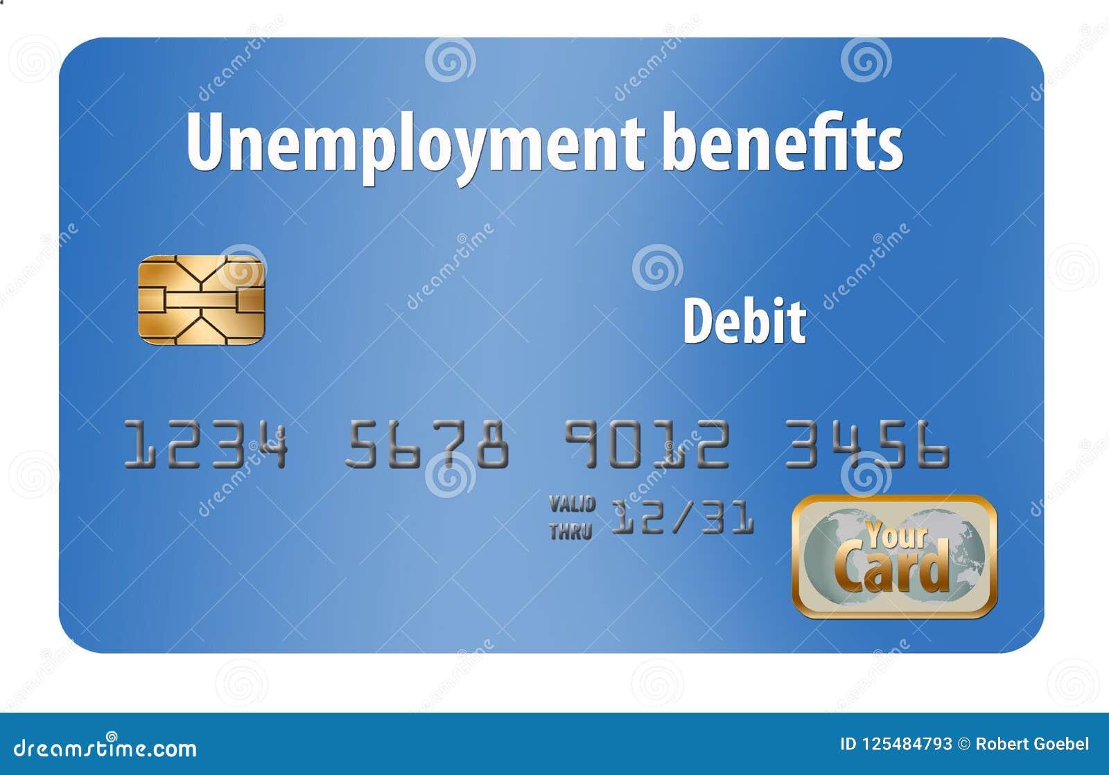 Aquí está una tarjeta de débito genérica de los subsidios de desempleo