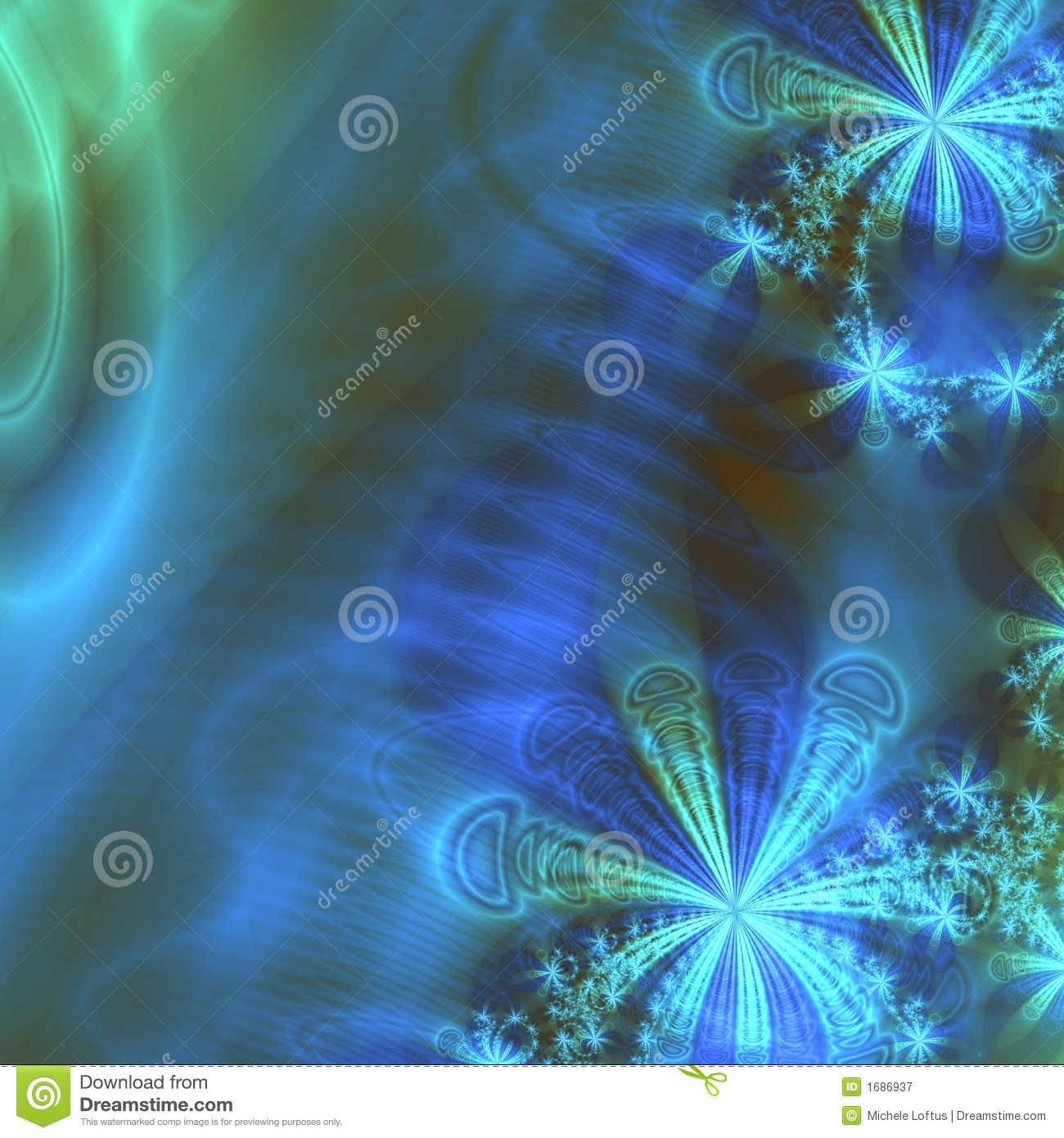 Aqua, Blue And Green Abstract Background Design Template