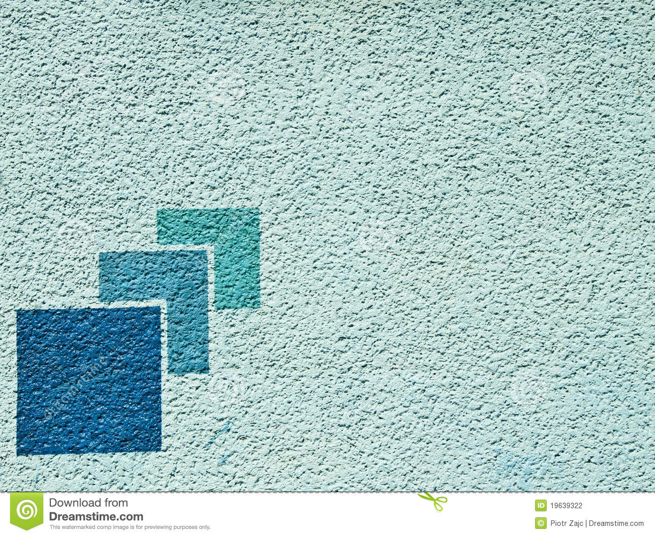 Aqua blue paint wall with pattern stock photography for Aqua blue paint for walls