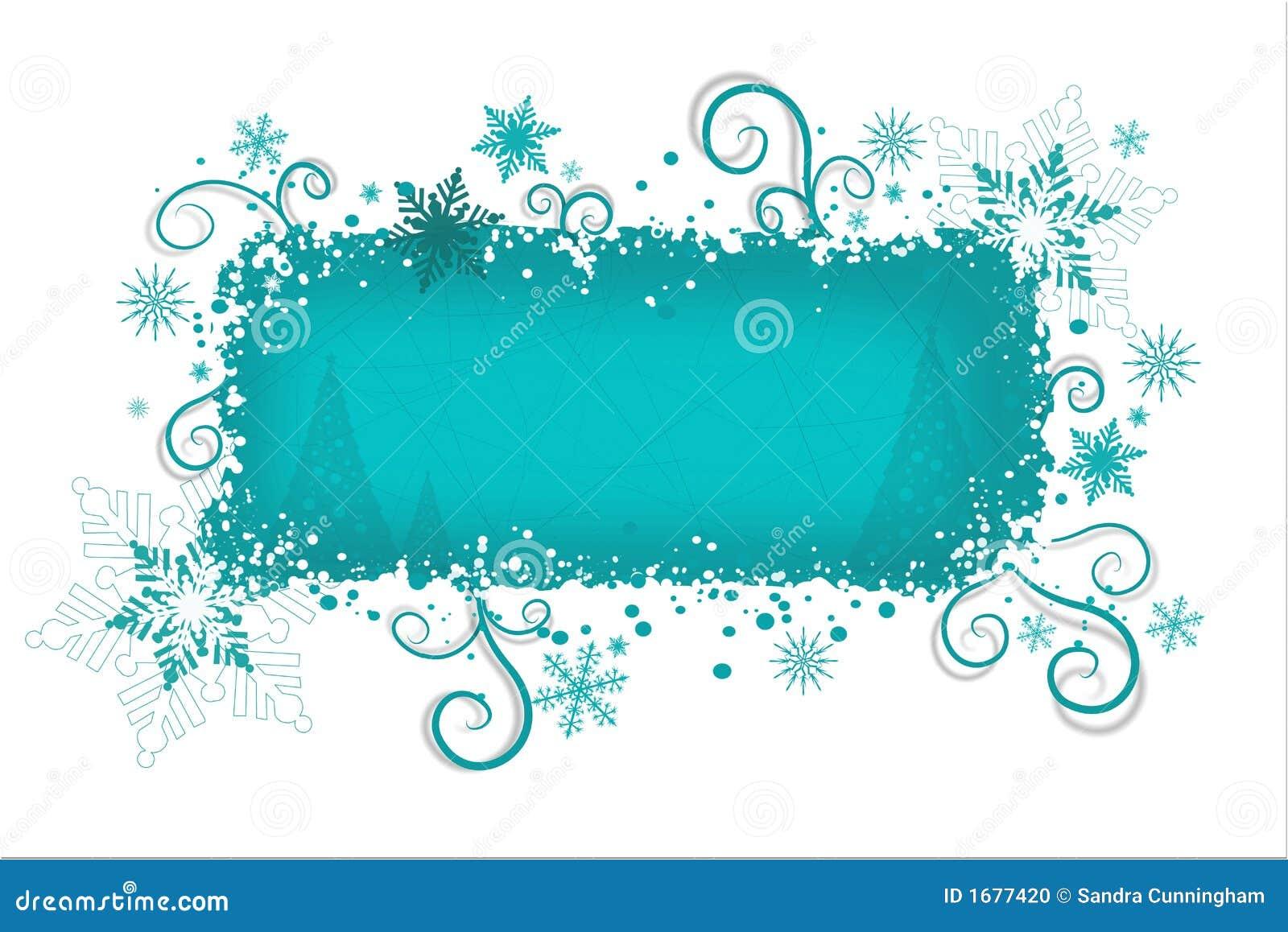 Aqua Christmas Background Stock Photo - Image: 1677420