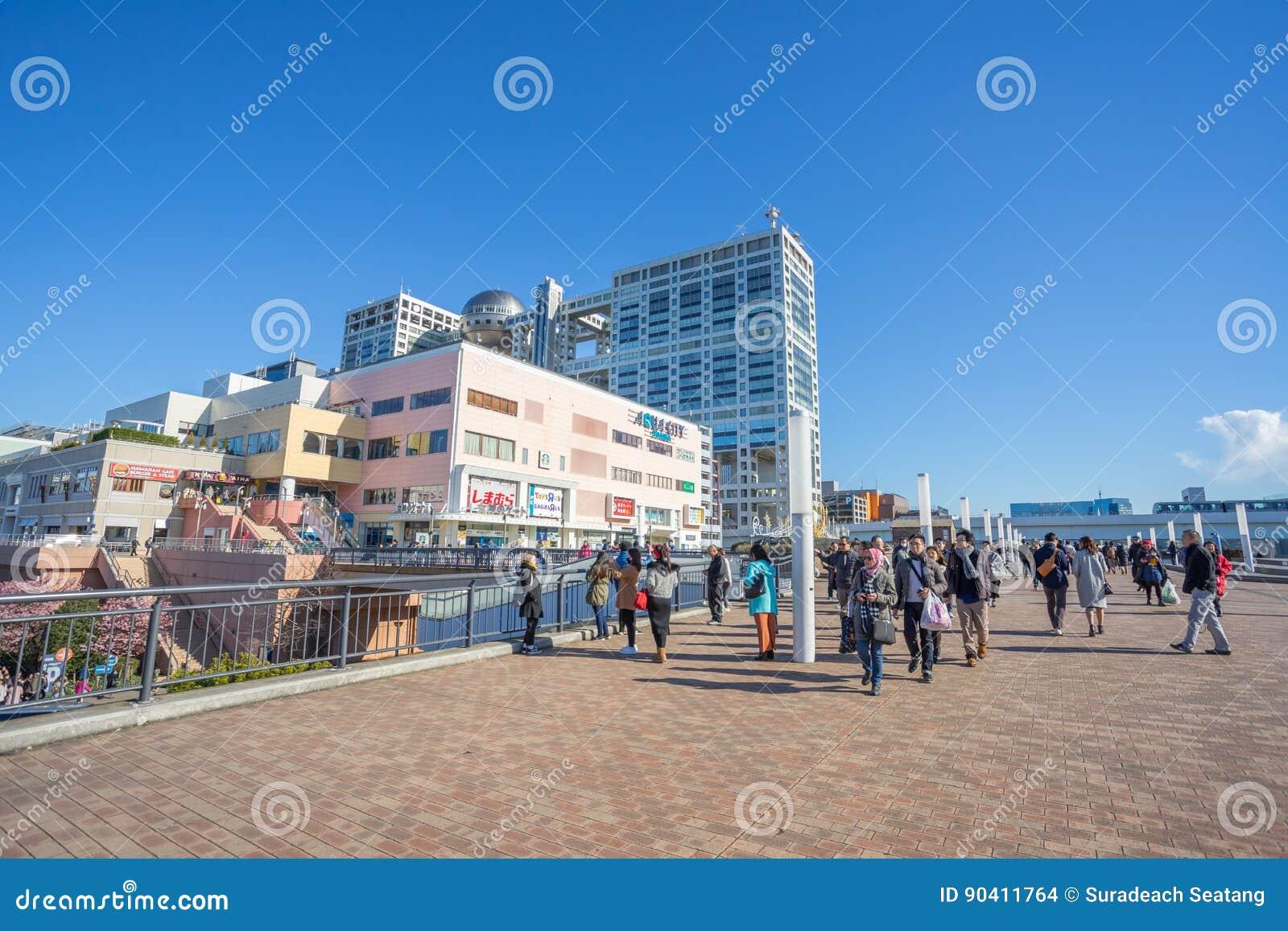 Aqua City Odaiba e costruzione di Fuji TV