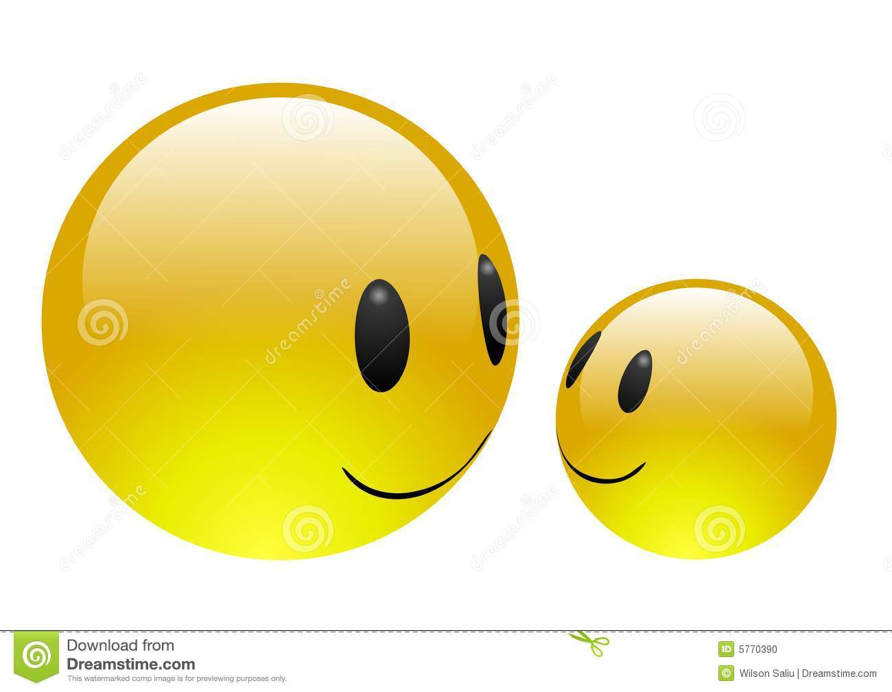 Aqua Emoticons Friendship Alternate Version Stock Illustration