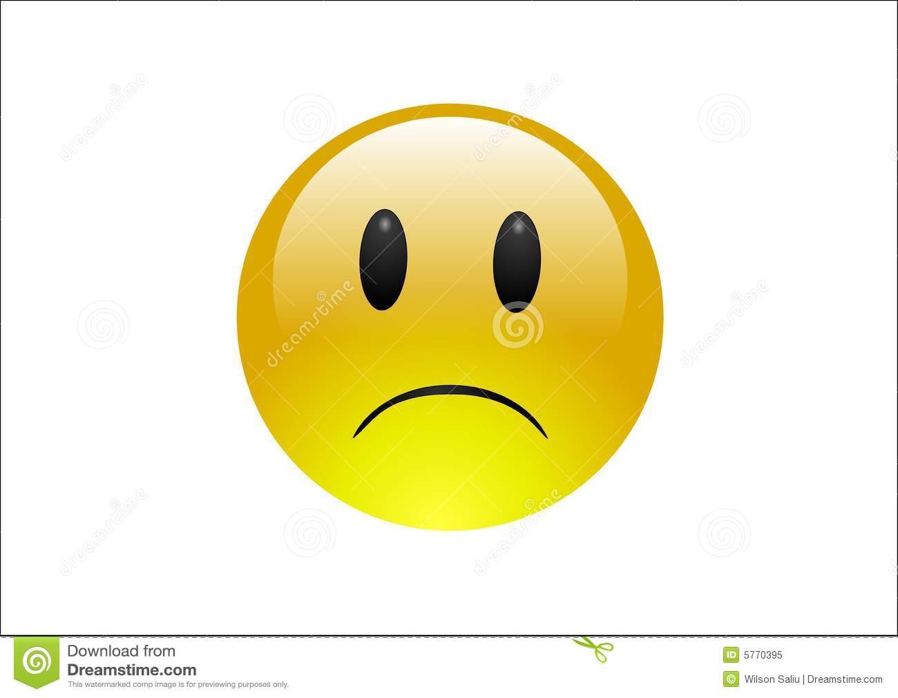 Aqua Emoticons - Sad Royalty Free Stock Photo - Image: 5770395