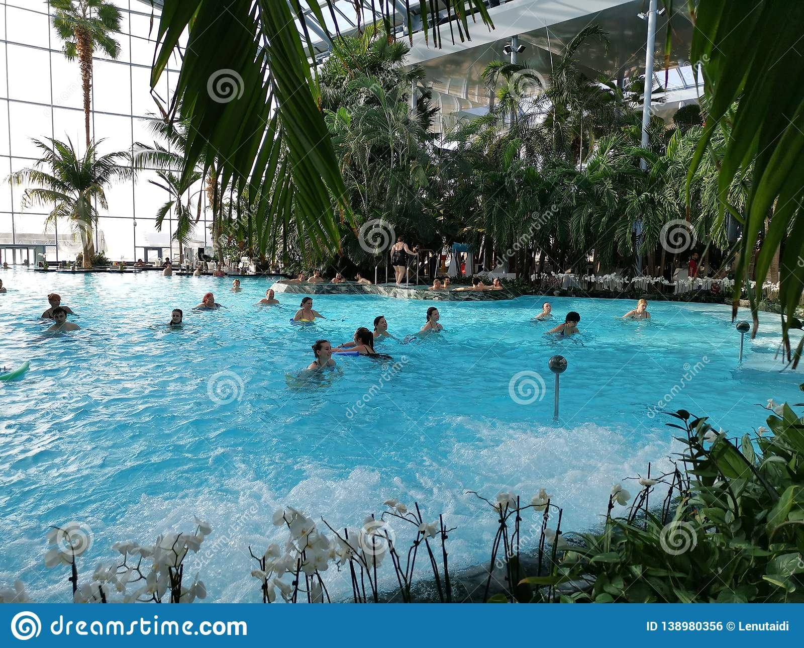 Aqua gym at Therme Bucharest