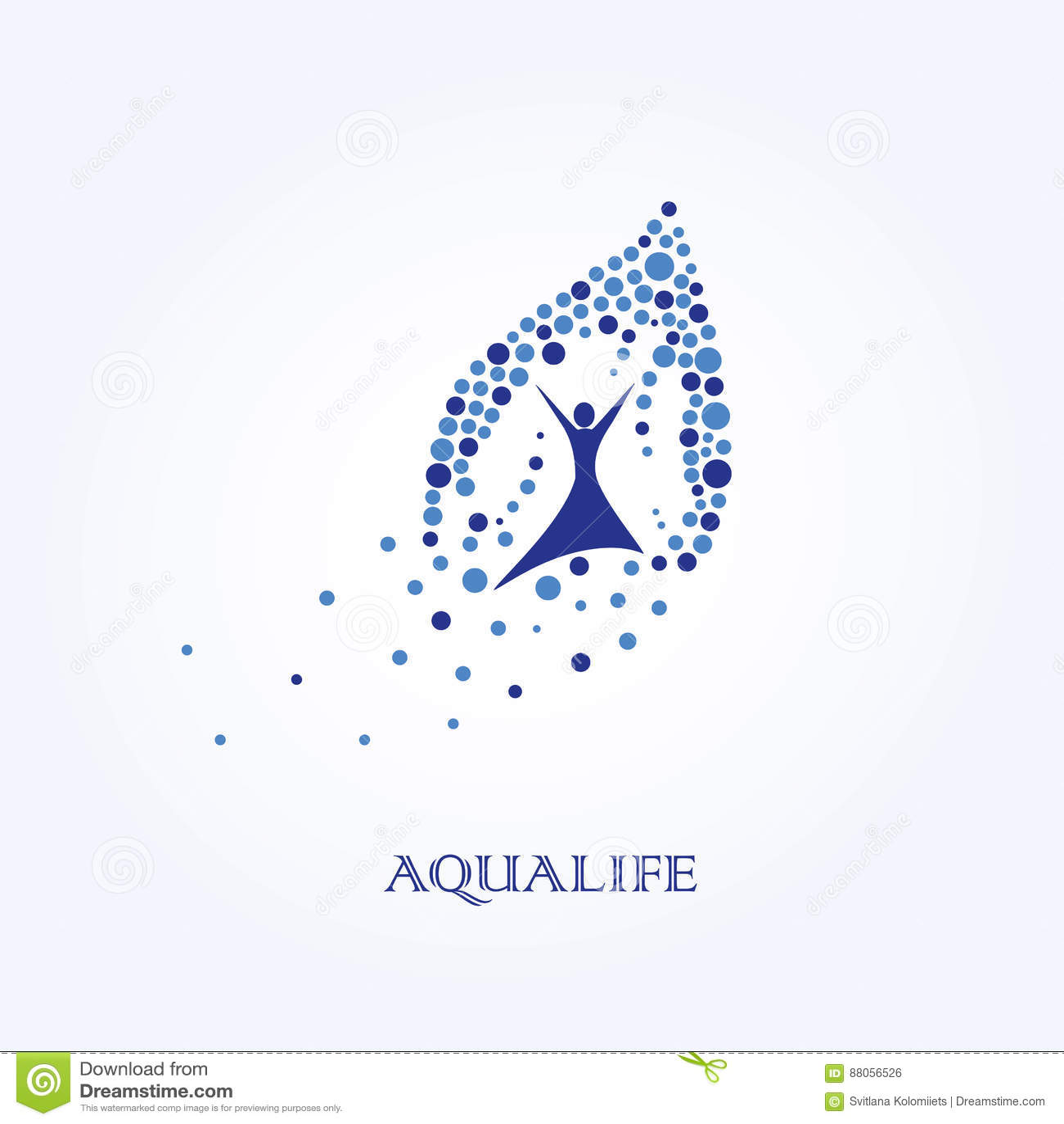 Aqua Life, Waterembleem, Gezond Levensstijlembleem