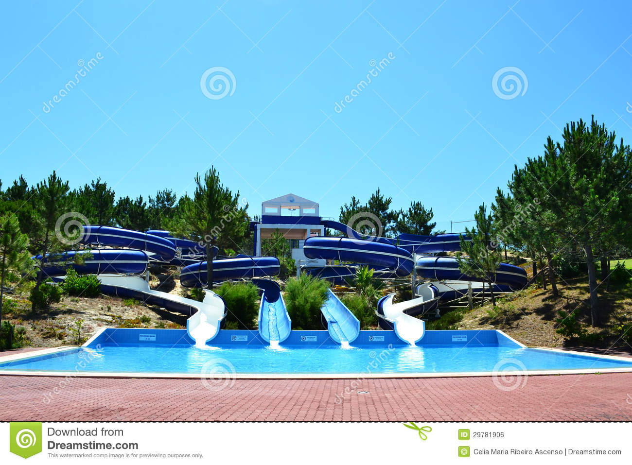 Aqua park slides royalty free stock image image 29781906 for Swimming pool slides