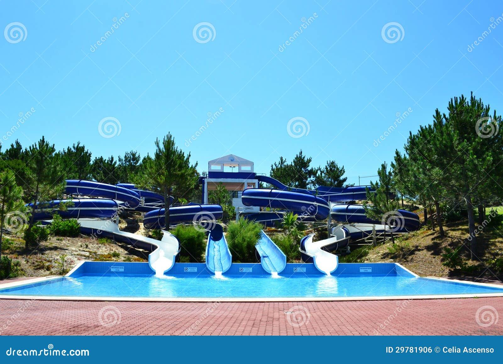 Aqua Park Slides Royalty Free Stock Image Image 29781906