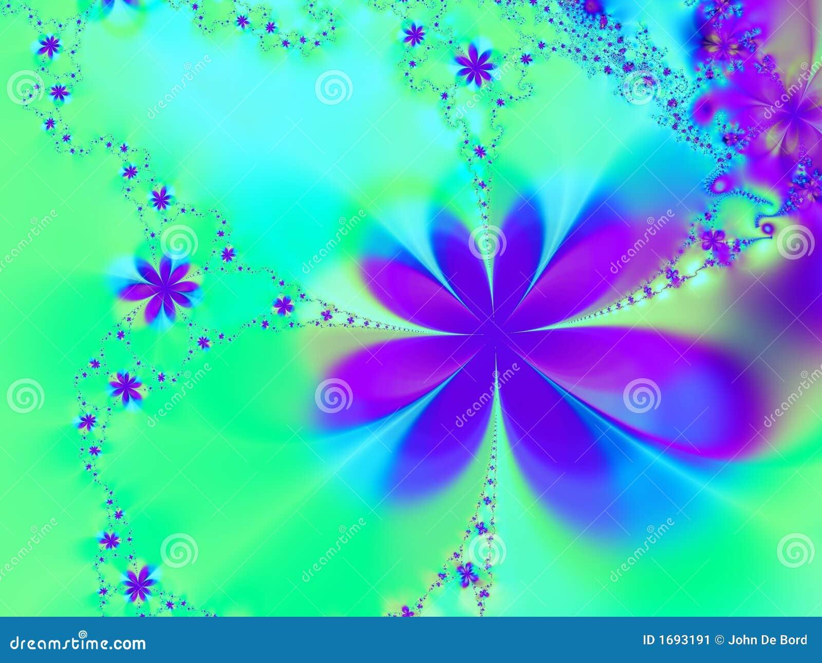 Aqua And Purple Star