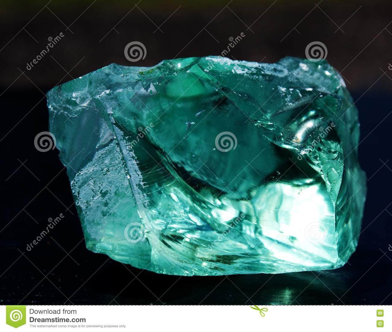 Aqua Glass Lit From Behind Stock Photo Image Of Glass
