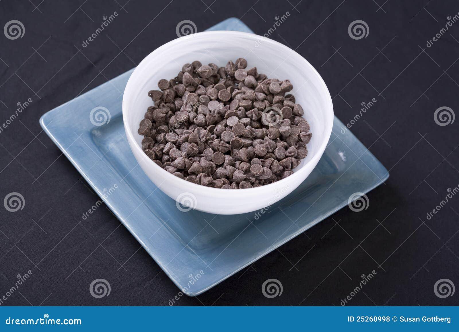 Aqua szczerbi się weganinu czekoladowego biel