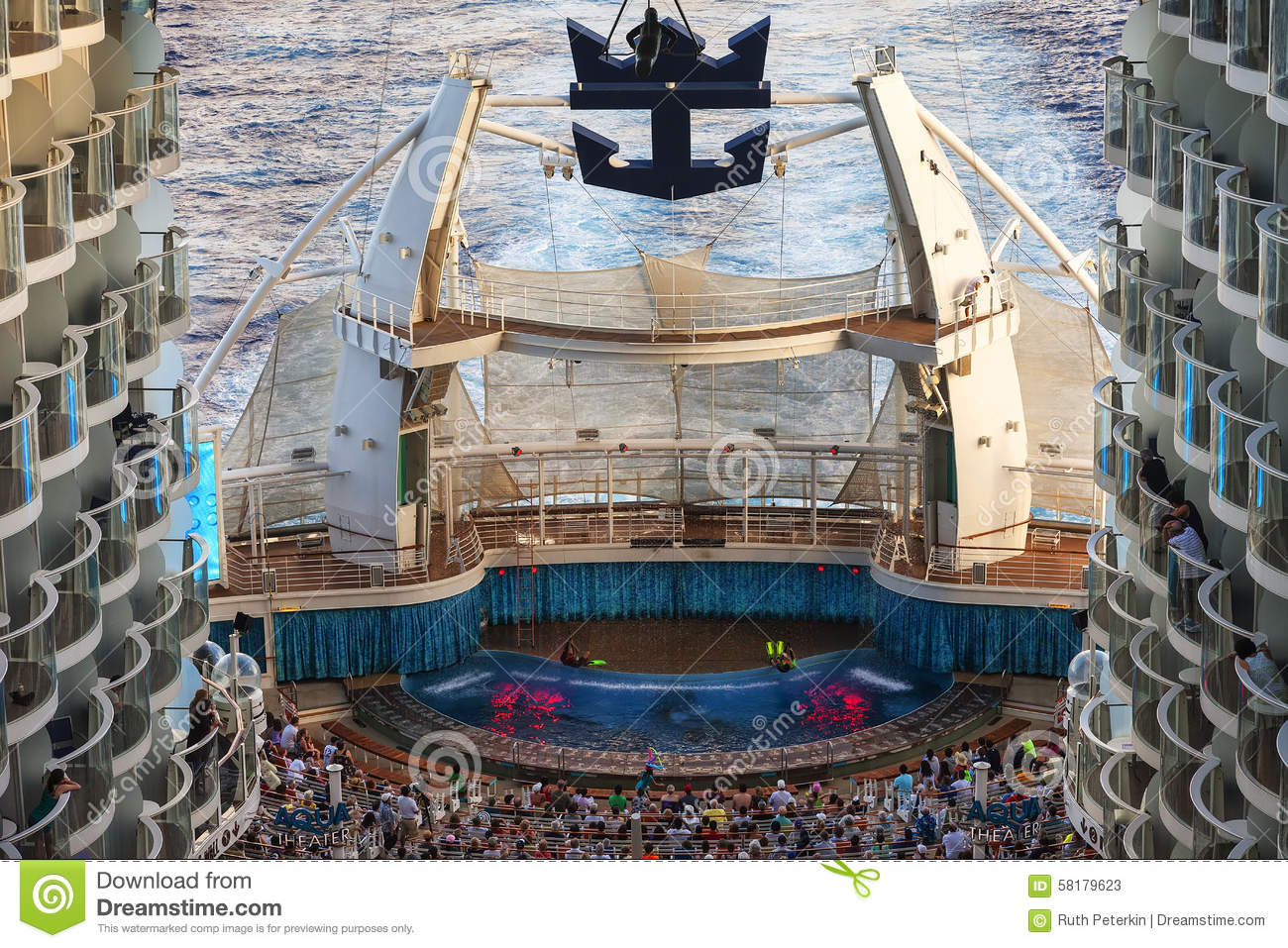 Aqua Theater On The Oasis Of The Seas Editorial Stock Photo Image 58179623
