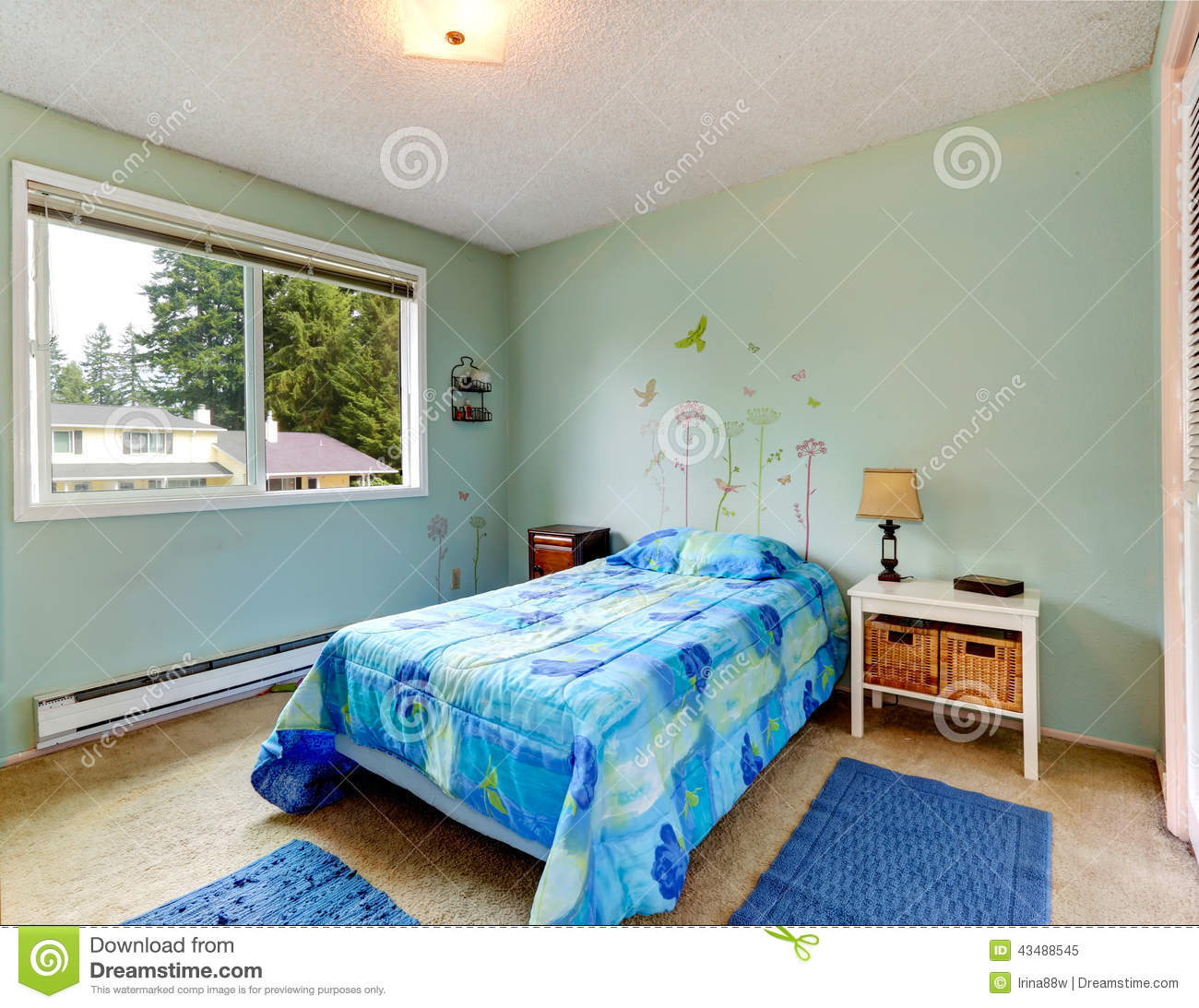 Single Bedroom Small Small Bedroom With Single Bed Stock Photo Image 42763807