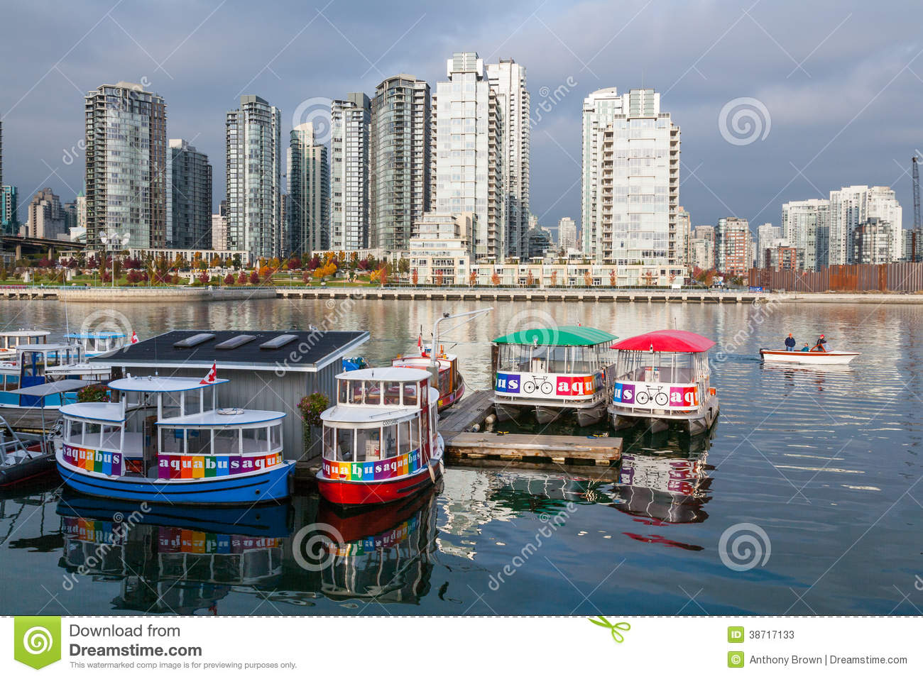 Ferry To Granville Island From Vancouver