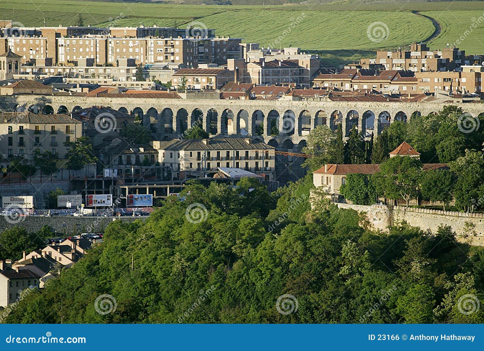 Aquaduct in Segovia, Spanje