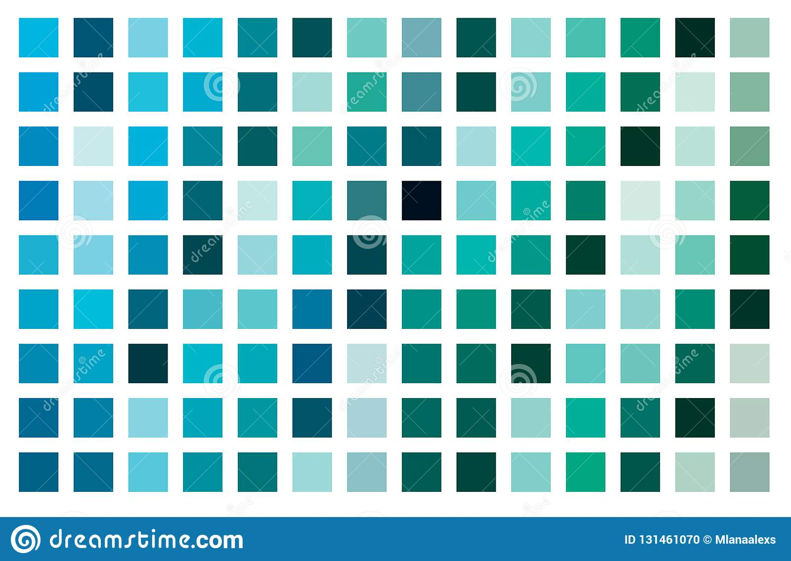 Aquamarine Color Palette Vector Stock Vector Illustration Of Palette Surface 131461070