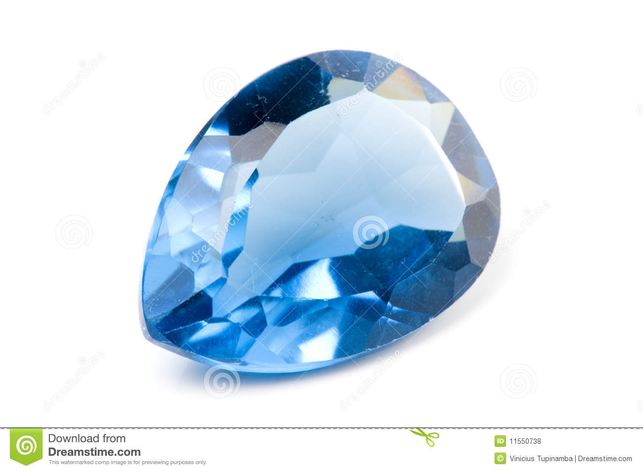 Aquamarine Gem Royalty Free Stock Photos - Image: 11550738