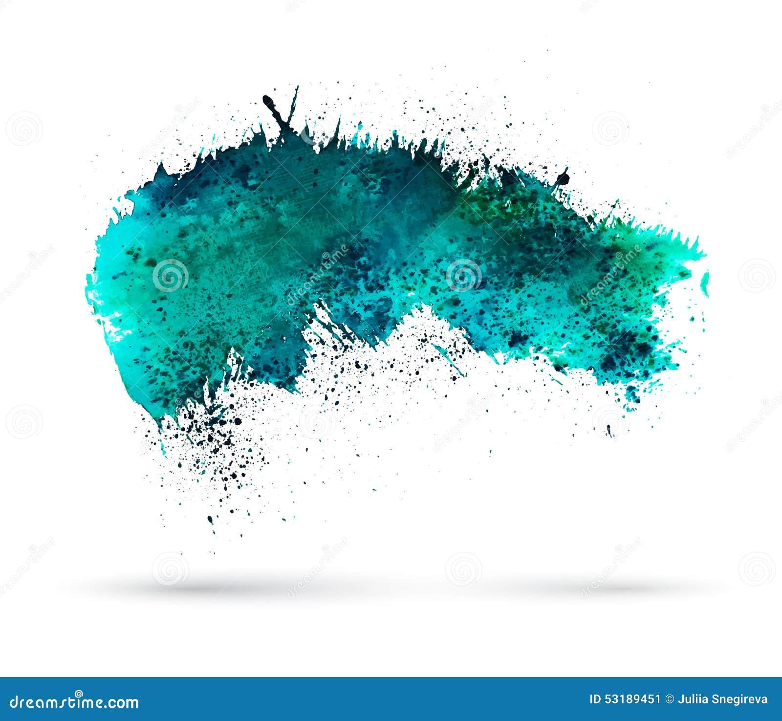 Aquamarine Watercolor Splash. Template For Your Stock Vector ...