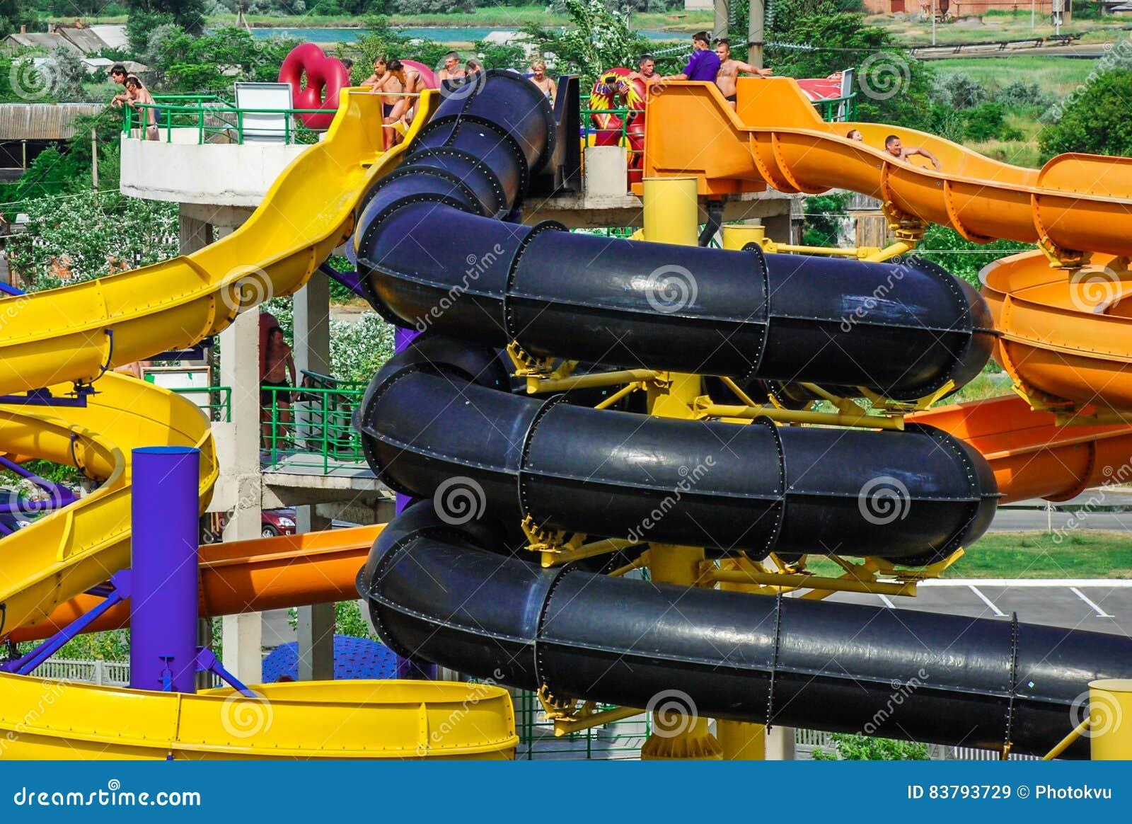 Aquapark in Berdyansk-stad, de Oekraïne