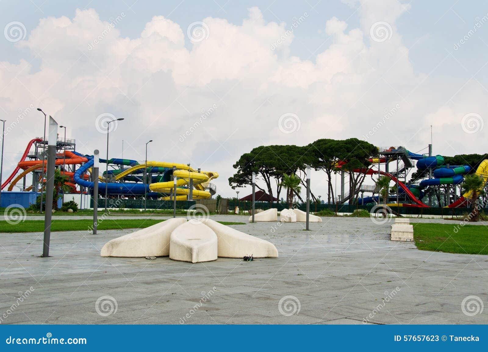Aquapark, nowożytny miejsce publiczne dla siedzenia