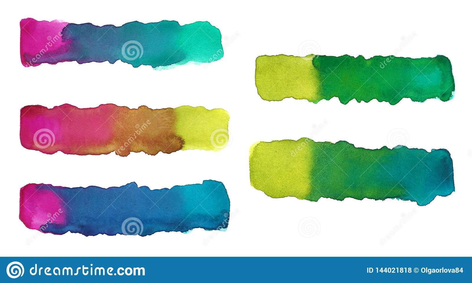 Aquarell, das Linien ausdehnt Steigung, die Farben ausdehnt
