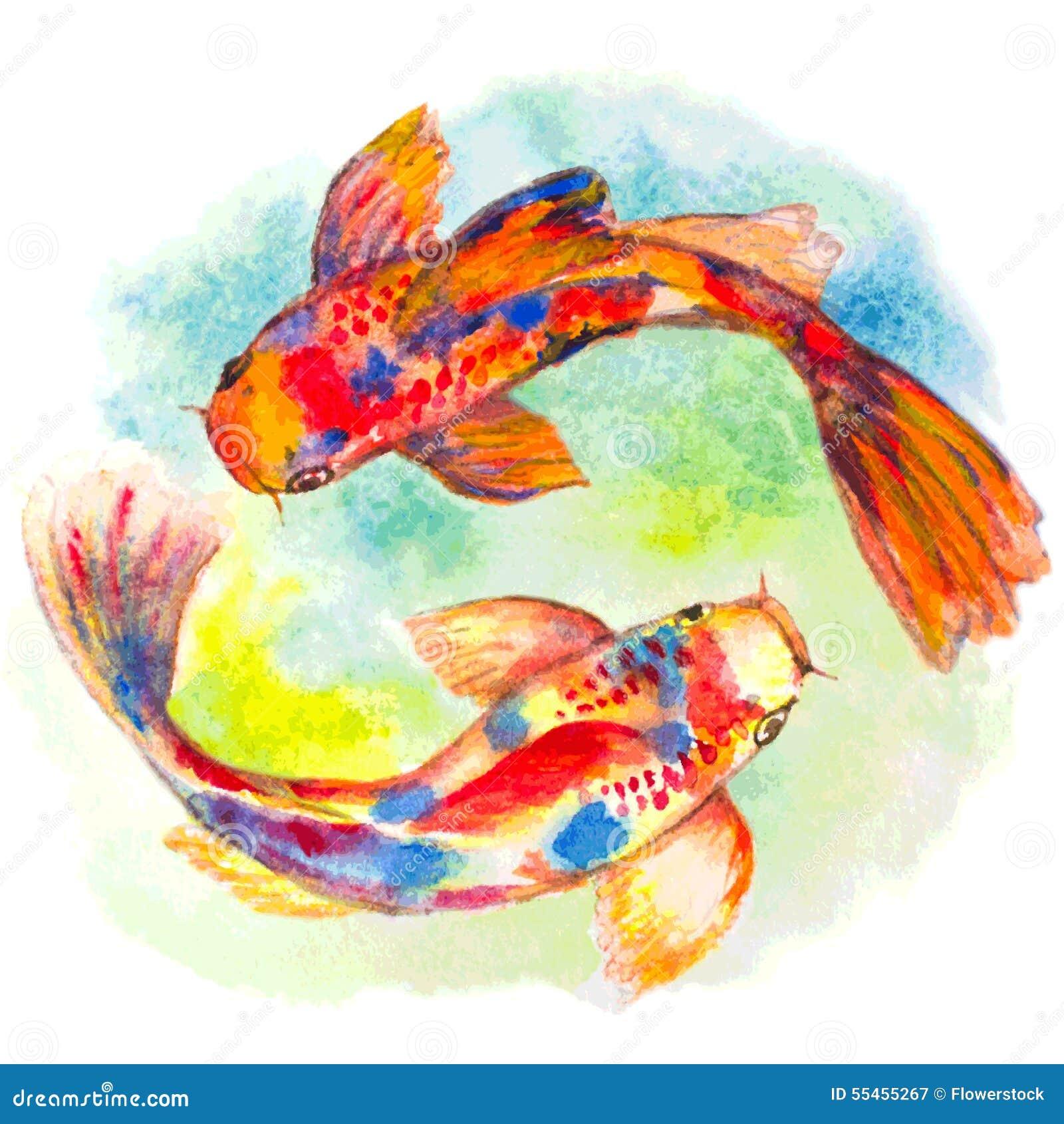 Goldfish Acrylic Painting