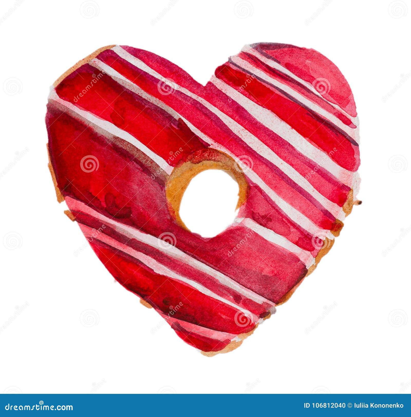 Aquarell-St.-Valentinsgruß ` s Tag `` süßer Valentinsgruß ``