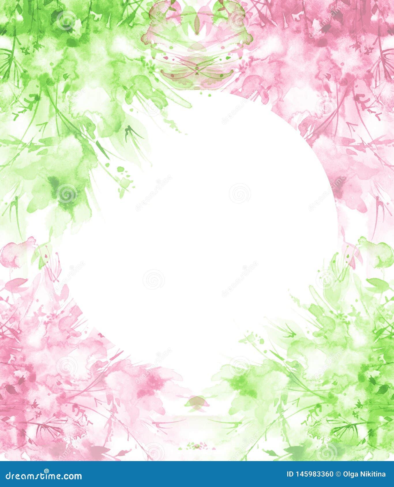 Aquarellblumenstrau? von Blumen, sch?nes abstraktes Spritzen der Farbe, Modeillustration Orchideenblumen, Mohnblume, Kornblume