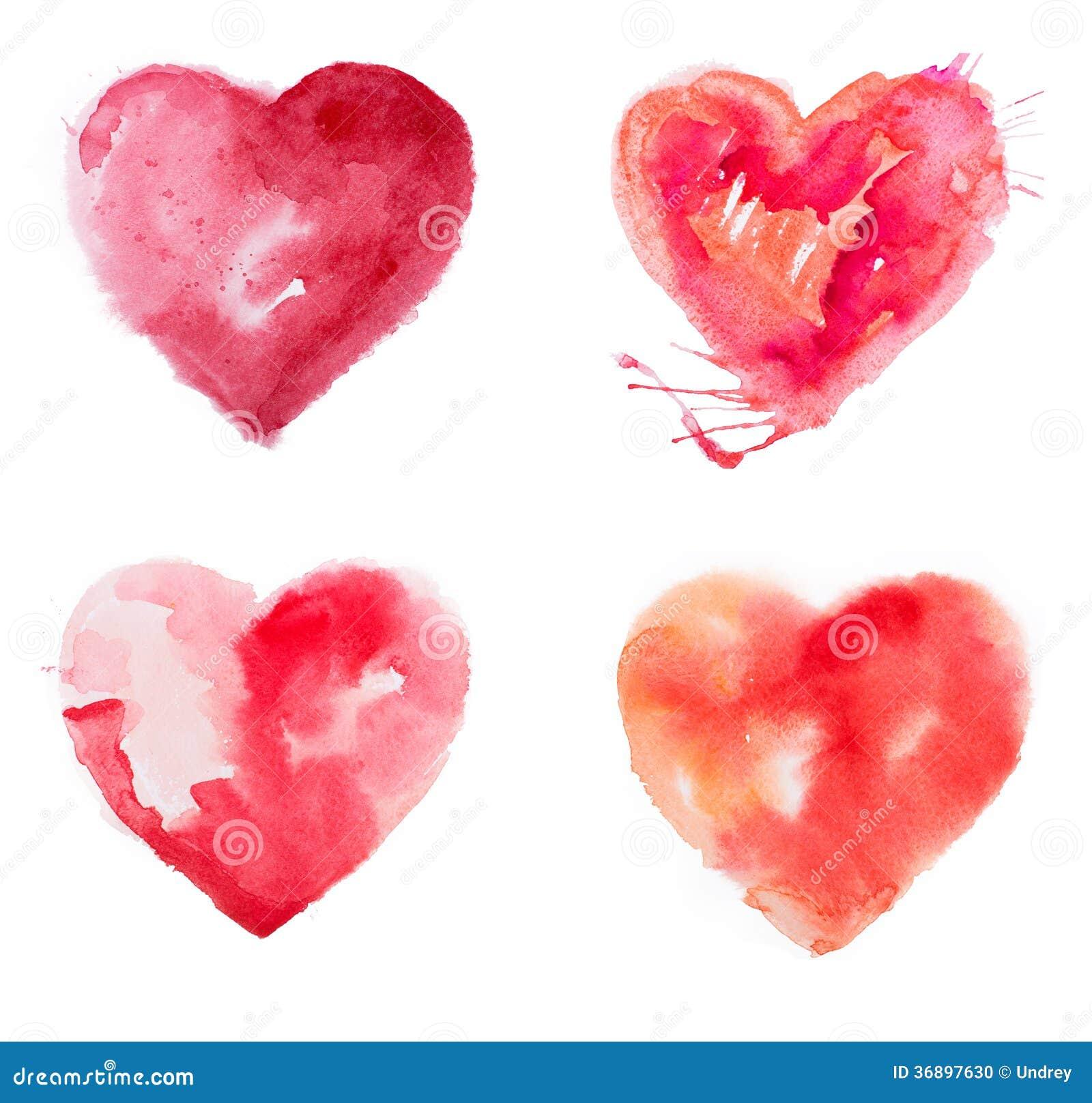 Aquarelle de peinture de coeur d 39 amour photo stock image - Photo de coeur d amour ...