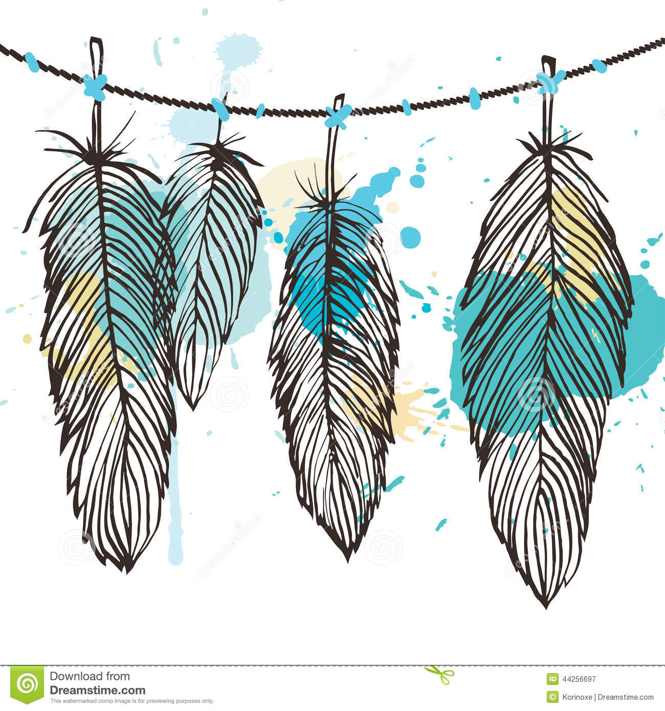 aquarelle feather set stock vector image 44256697 turkey feathers pictures clip art turkey feathers clip art free