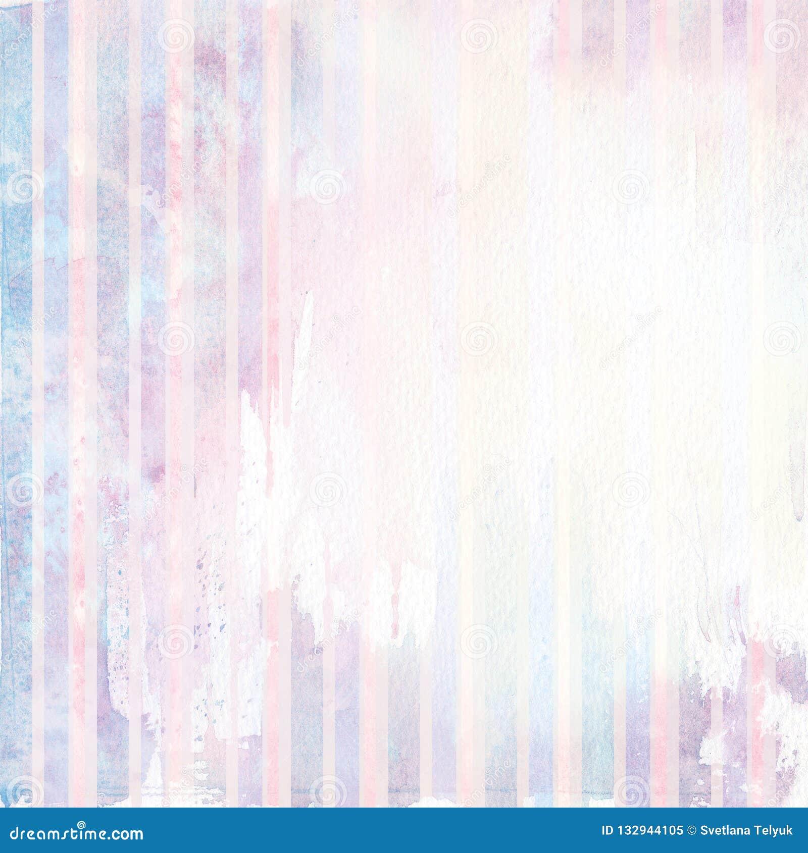 Aquarelle hors de fond rayé de couleur