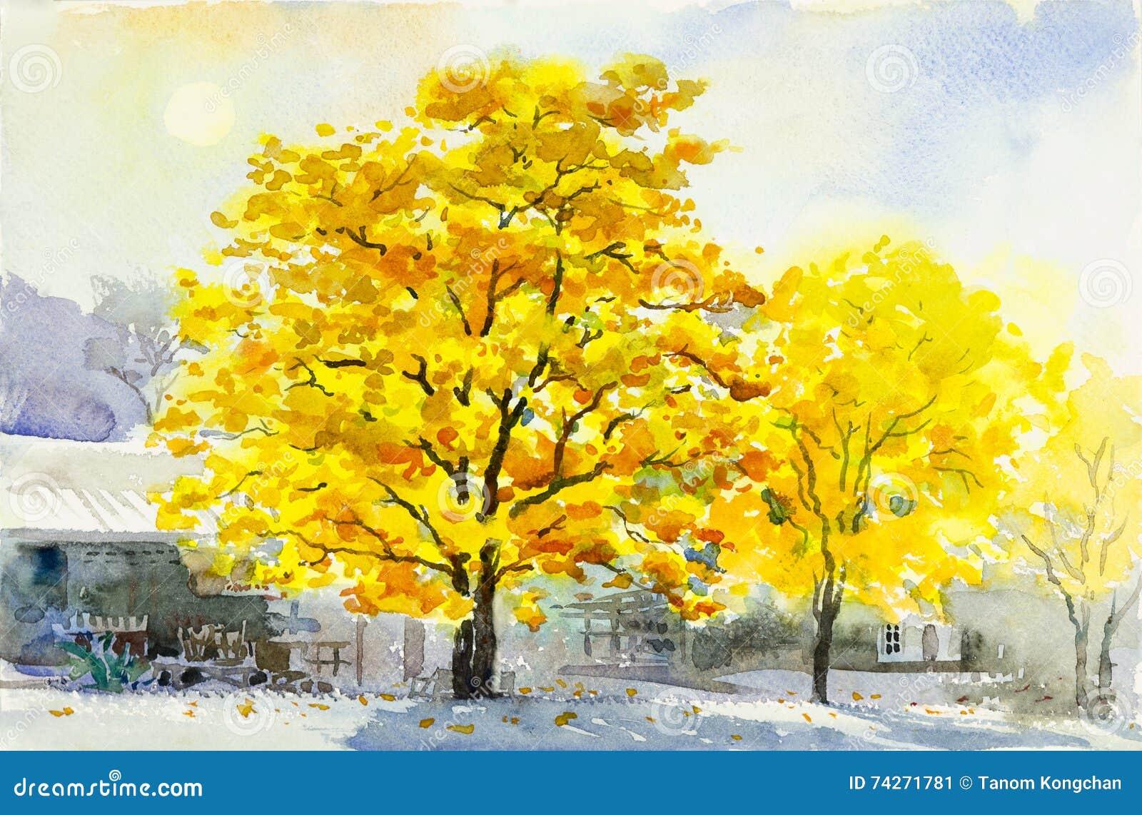 aquarelle peignant la couleur jaune originale de la fleur. Black Bedroom Furniture Sets. Home Design Ideas
