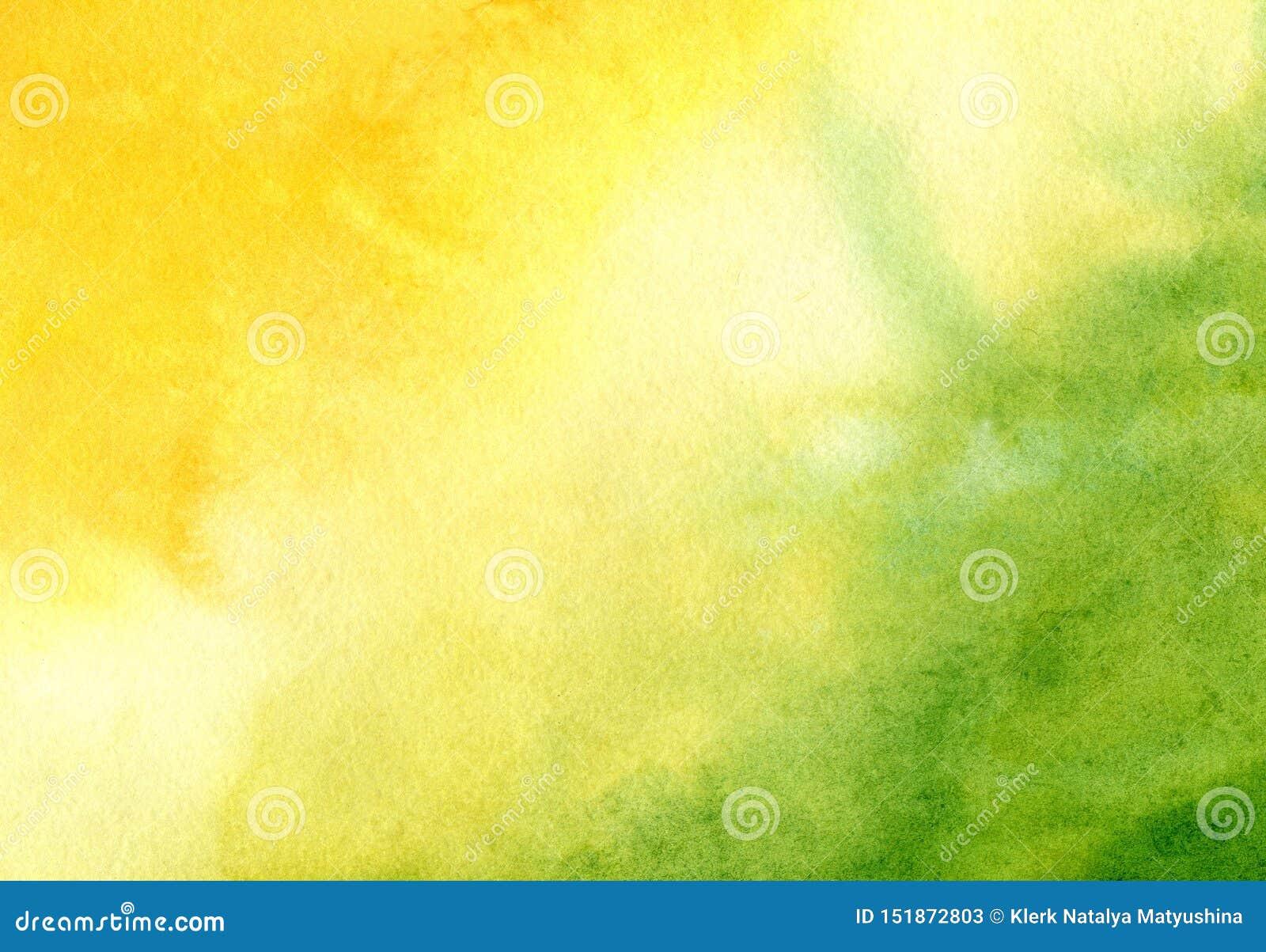 Aquarellhintergrund mit handgemalter abstrakter Sonne und Gras Entwurf von Fahnen, Plakate, Plakate, Karten, Einladungen,