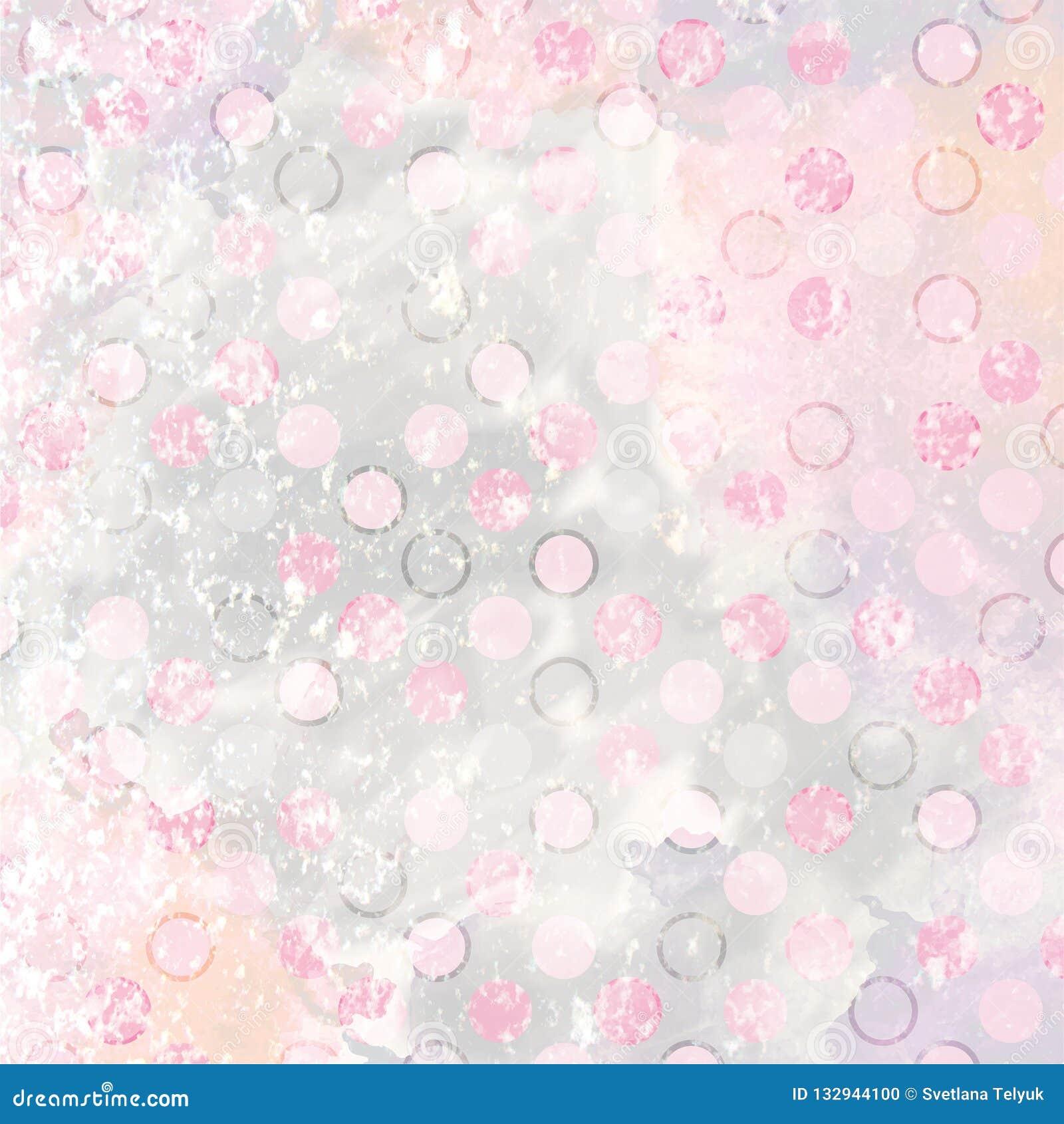 Aquarellpastellhintergrund mit Tupfenmuster