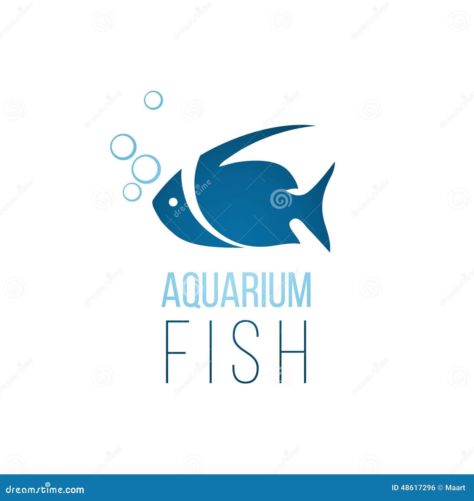 Aquarium Fish Logo Template Stock Vector Image 48617296
